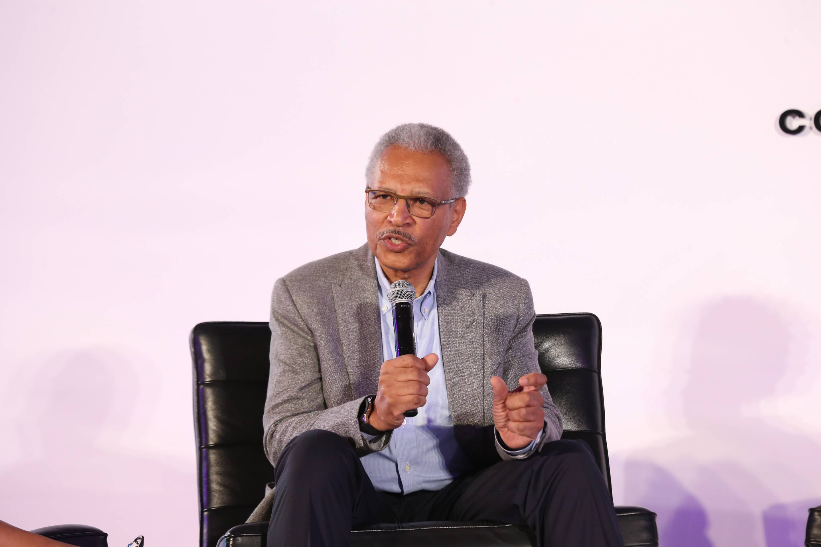 Ron Williams speaks at BET's META conference on June 20, 2019, in Los Angeles.