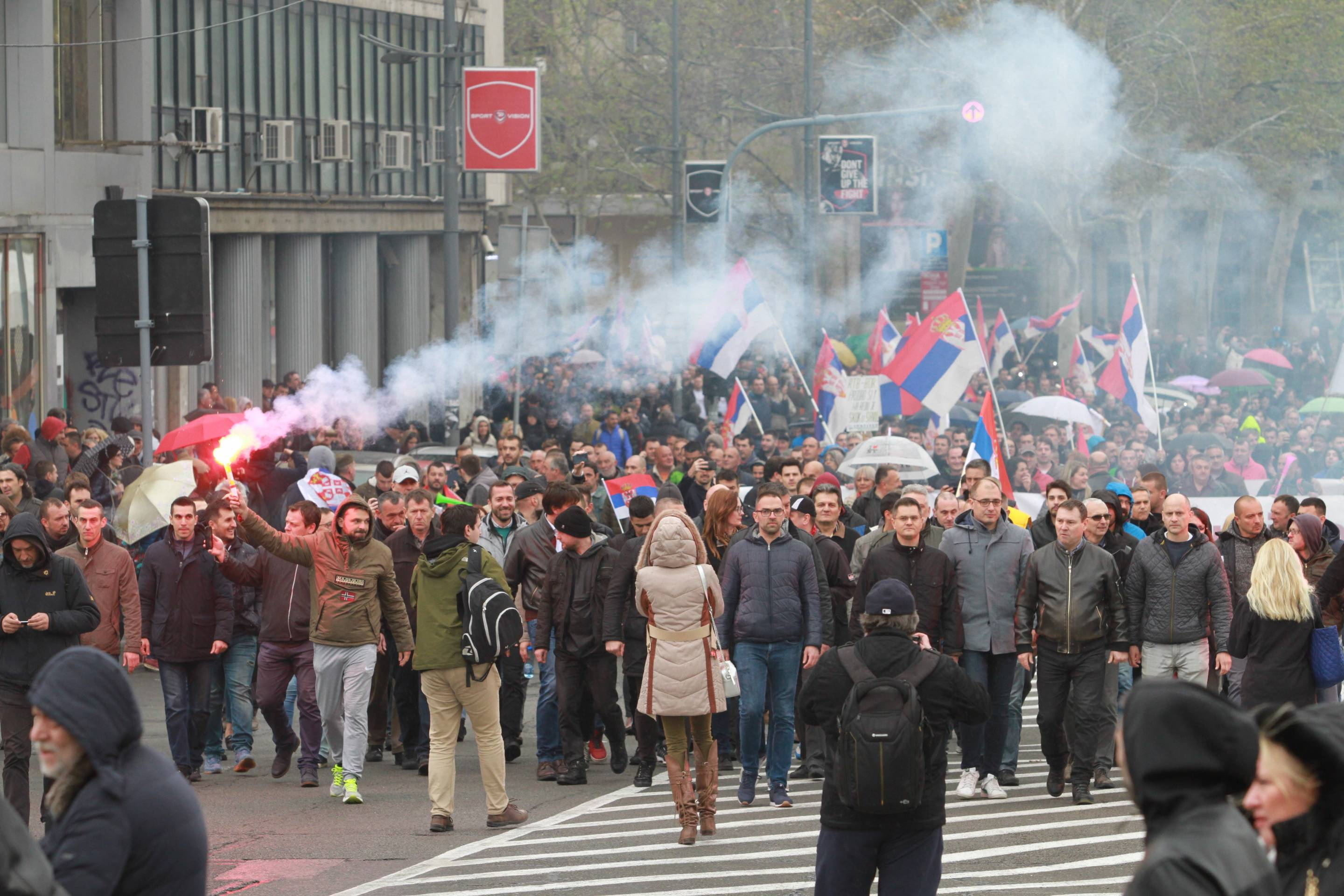 Protest against government in Serbia