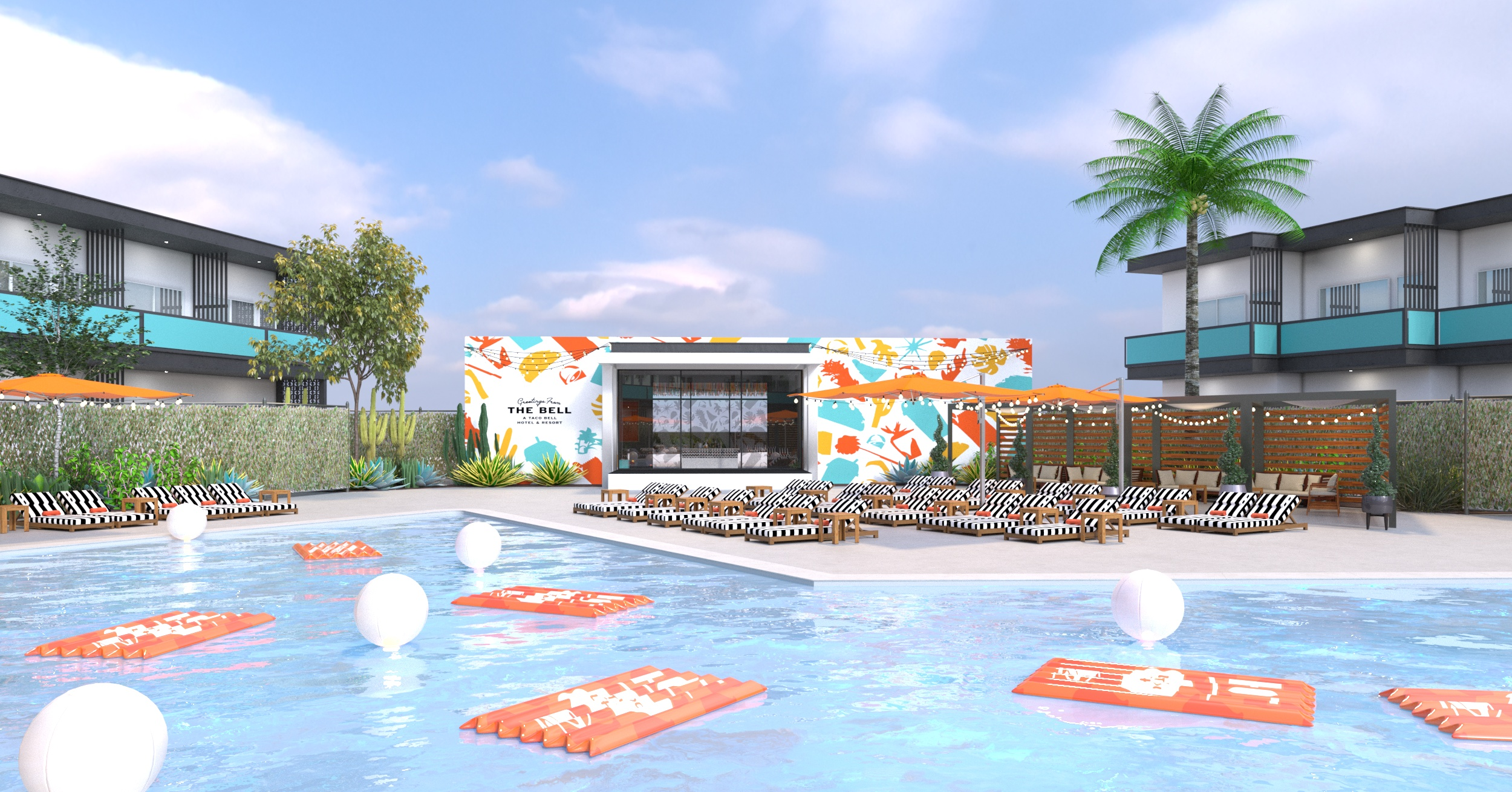 The Bell - A Taco Bell Hotel & Resort - Pool View