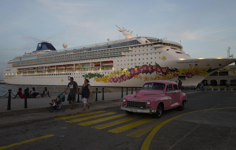 The Norwegian SKY cruise during last day in Havana.