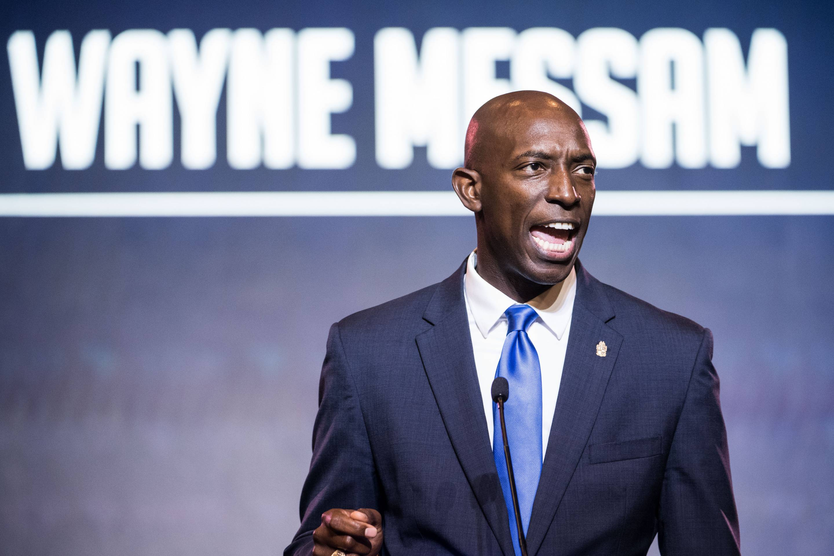 Democratic presidential candidate and Miramar Mayor Wayne Messam speaks to the crowd during the 2019 South Carolina Democratic Party State Convention on June 22, 2019 in Columbia, S.C.