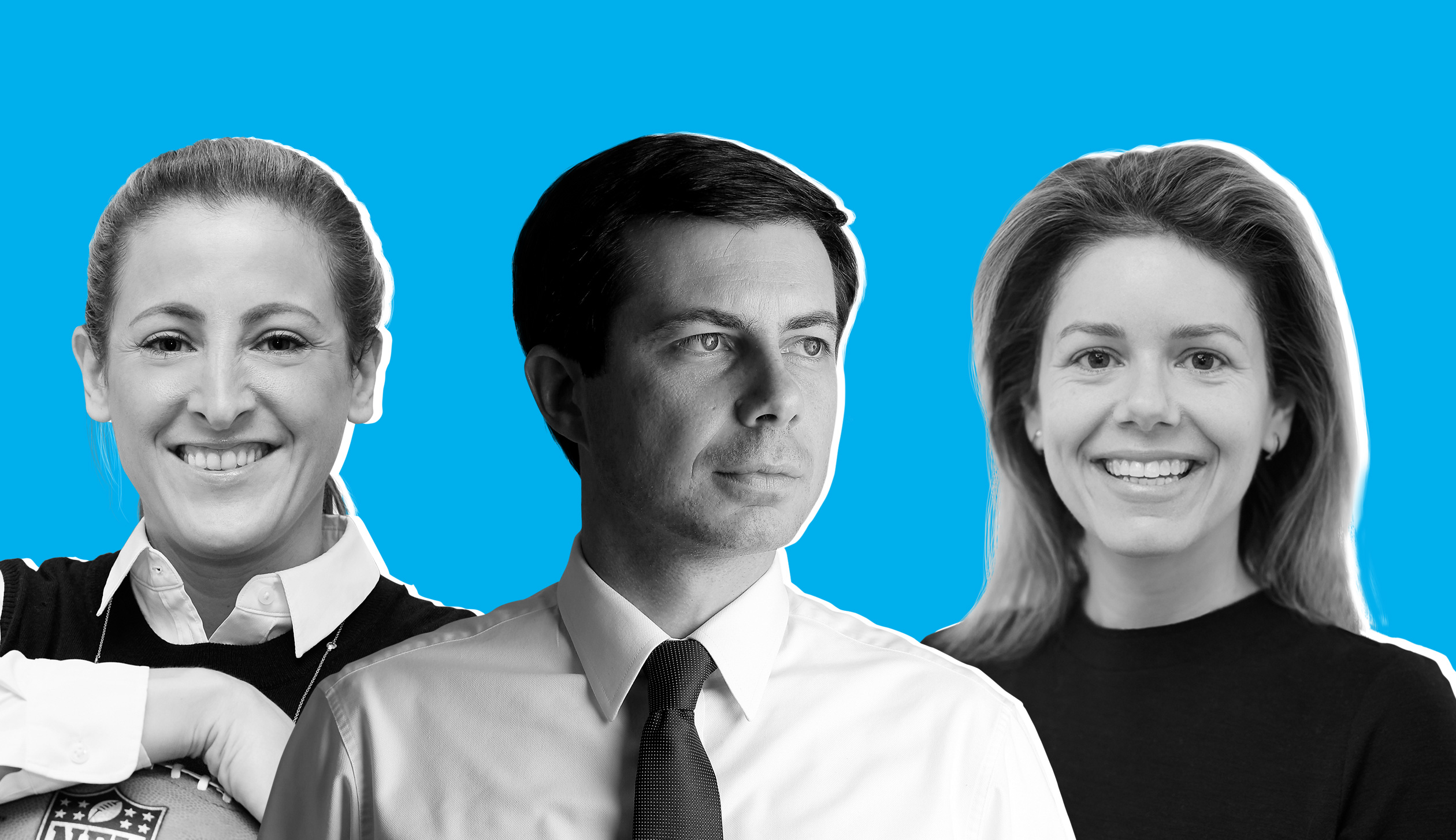 Sam Rapoport, Pete Buttigieg and  Kate Gulliver.