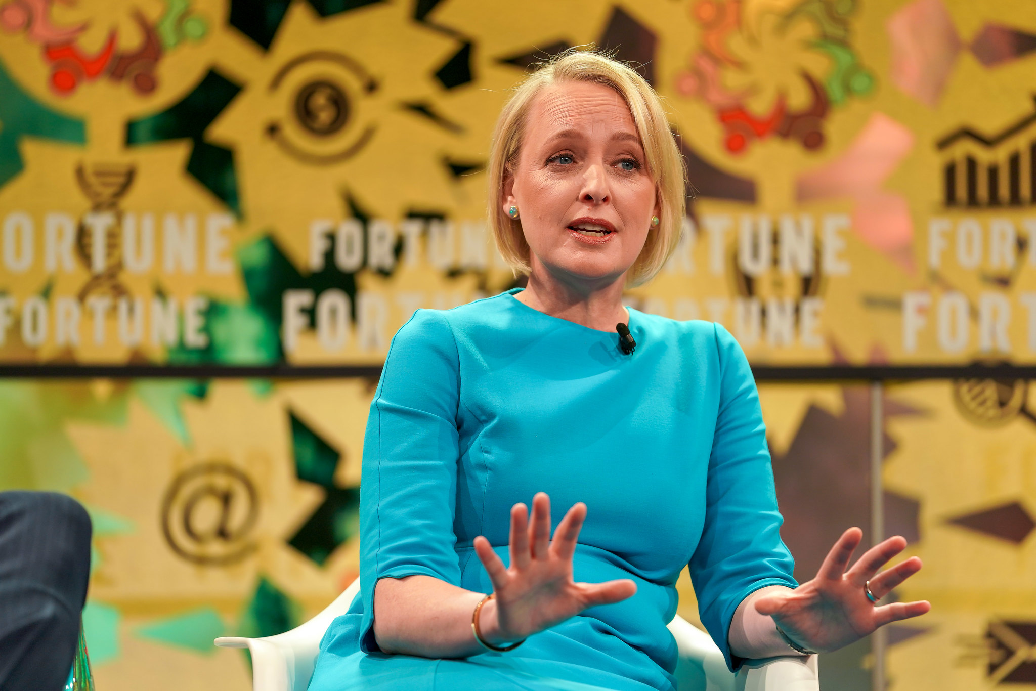 Julie Sweet, CEO of Accenture North America, speaking at the 2018 Fortune Global Forum in Toronto.