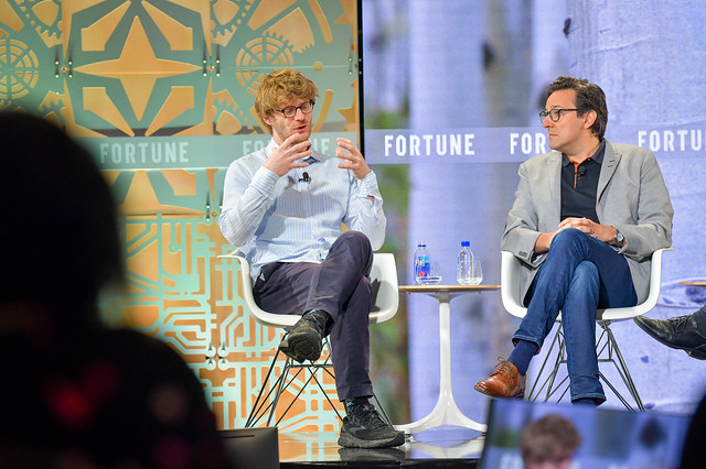 Salesforce Chief Scientist Richard Socher and IBM Director of Research Dario Gil Discuss How to Control A.I. at Fortune Brainstorm Tech conference.