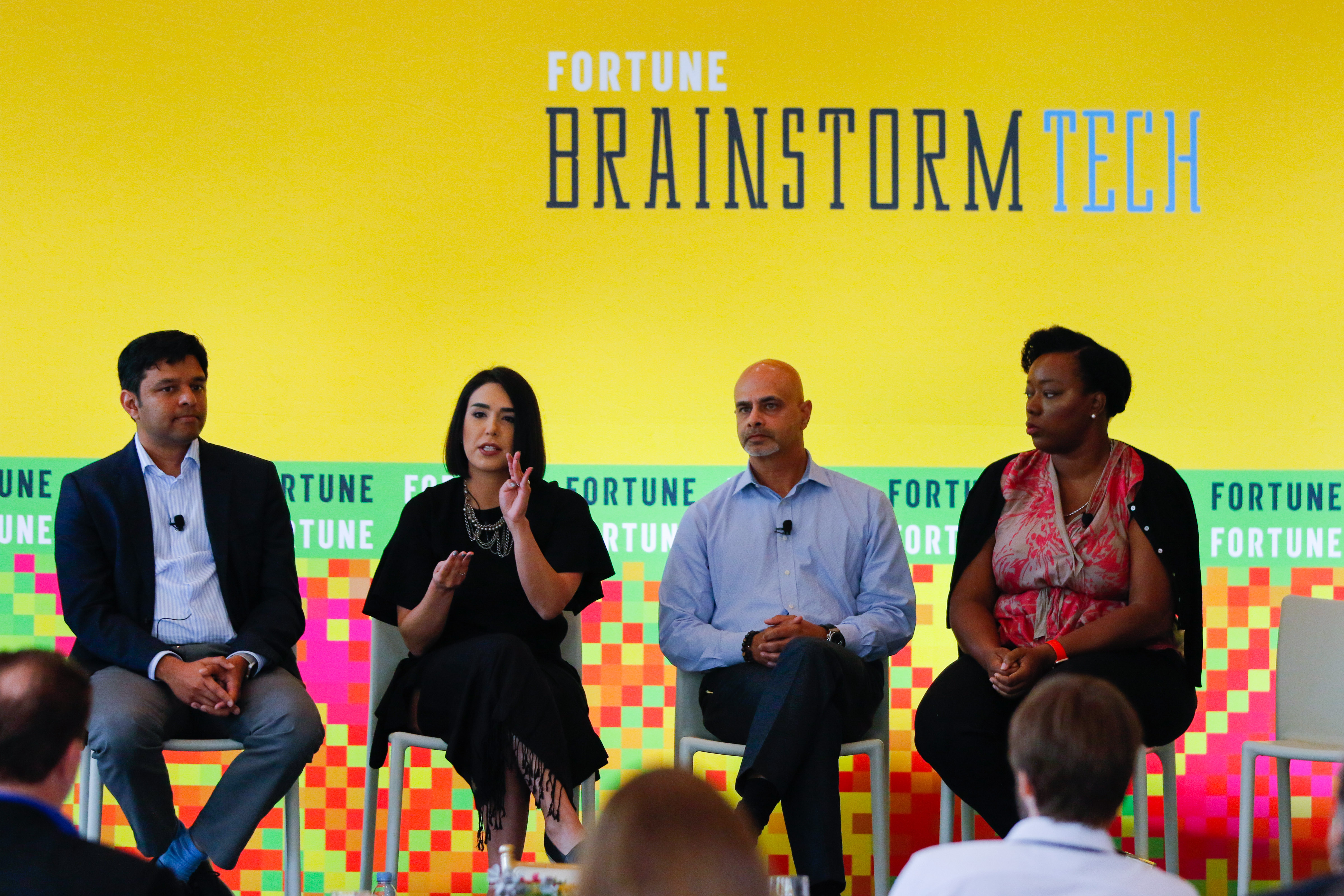 A panel discussed how to find the humanity in artificial intelligence at Fortune Brainstorm Tech.
