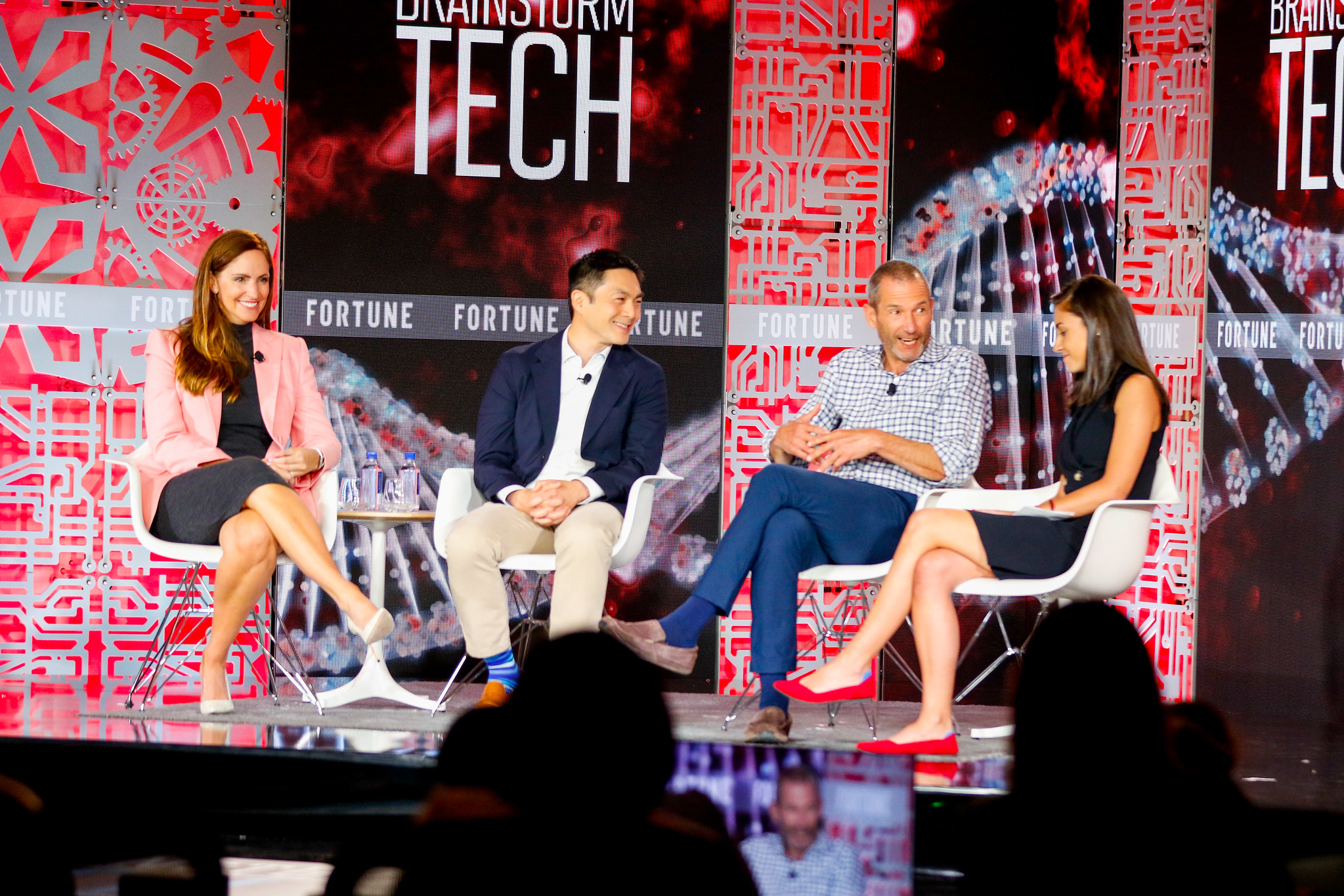 Lightspeed Ventures Partner Jana Messerschmidt, Sequoia Partner Alfred Lin, and a16z Managing Partner Jeff Jordan speak with Fortune's Polina Marinova at the Brainstorm Tech conference in Aspen, Colo.