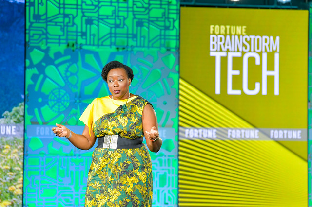 Github's Omoju Miller speaking at Fortune Brainstorm Tech.