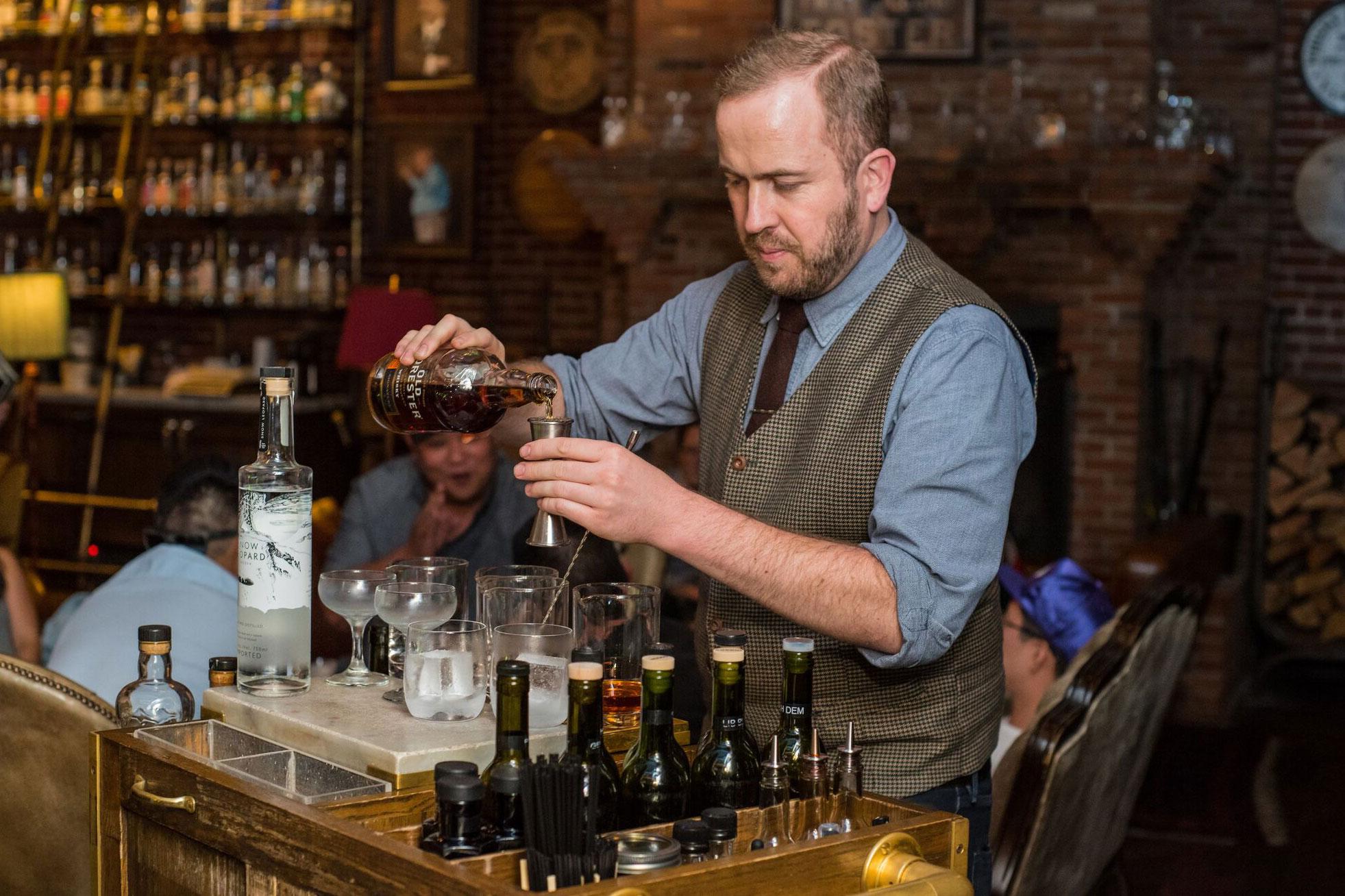 Bar Cart-Multnomah Whiskey Library