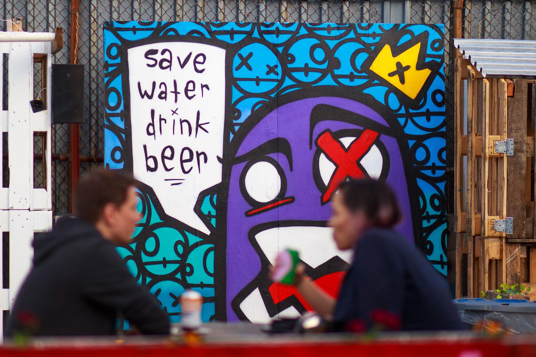 Brooklyn Beer Garden-street art