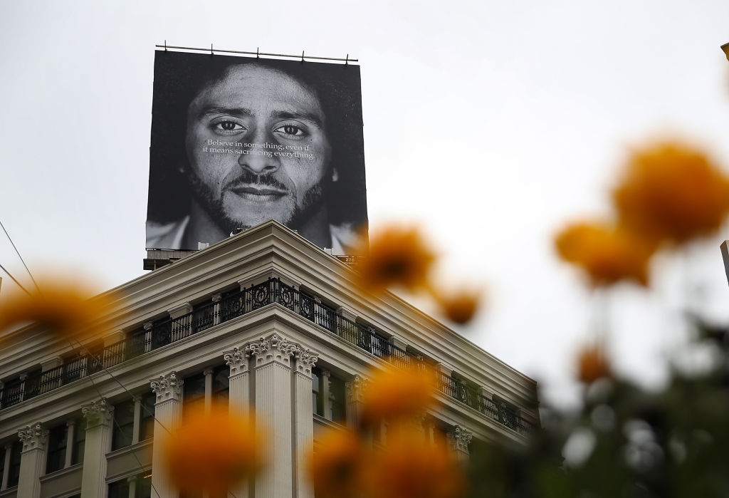 Nike made Kaepernick the face of a massive ad campaign last year. (Photo by Justin Sullivan/Getty Images)