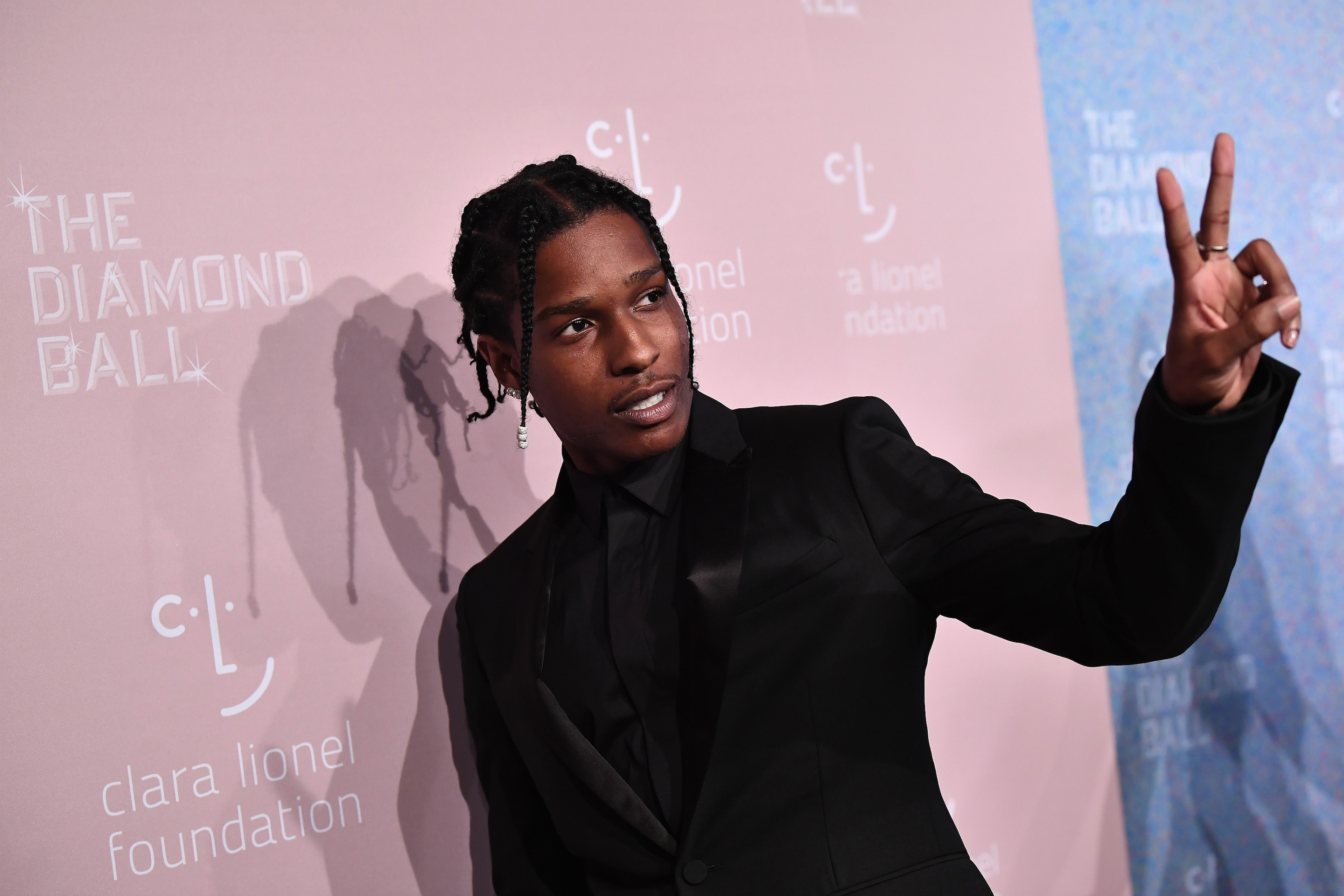 A$AP Rocky, pictured here in September 2018, is being held another week in Swedish detention as officials say they investigate a fight.