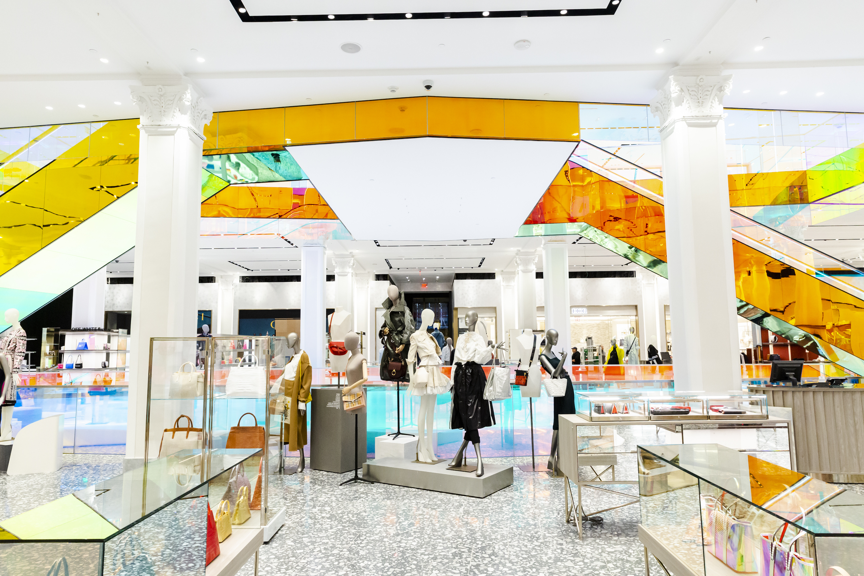 The ground floor of the recently renovated Saks Fifth Avenue Inc. flagship store in New York.