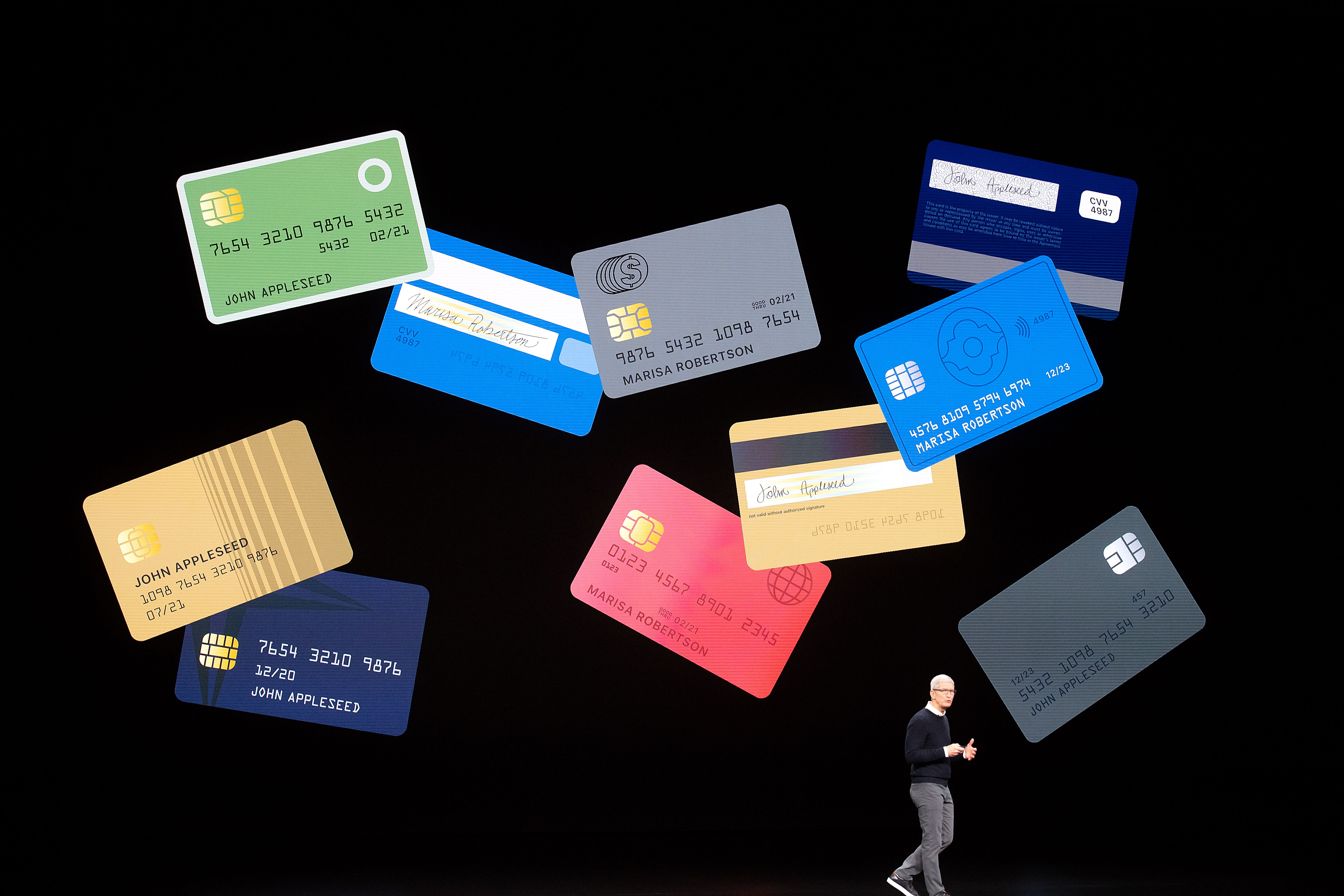 Apple CEO Tim Cook introduces Apple Card.