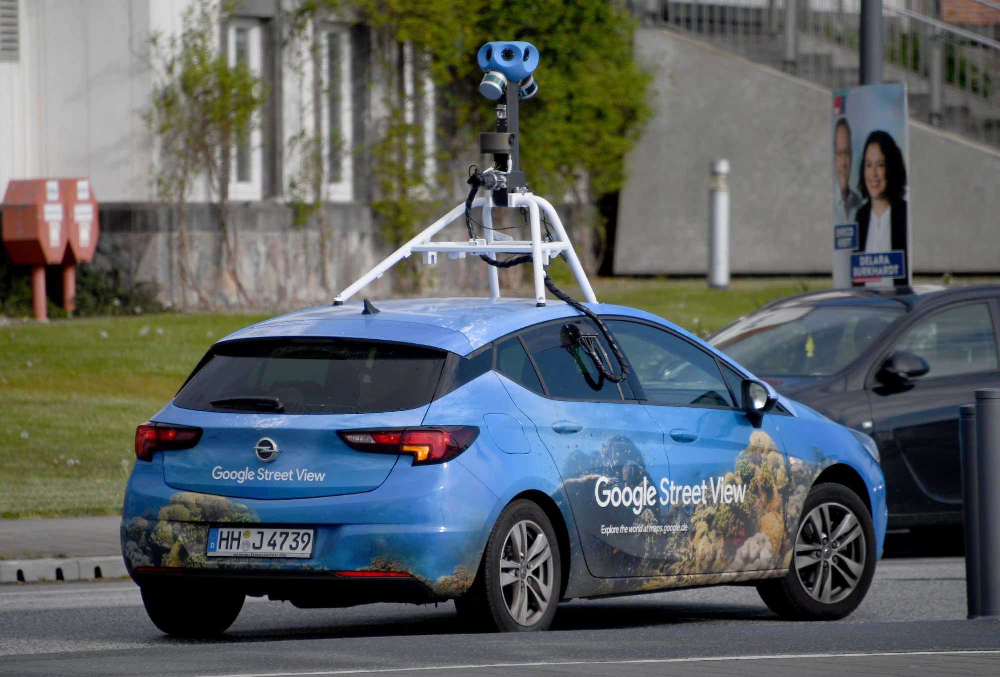 google street view photo car