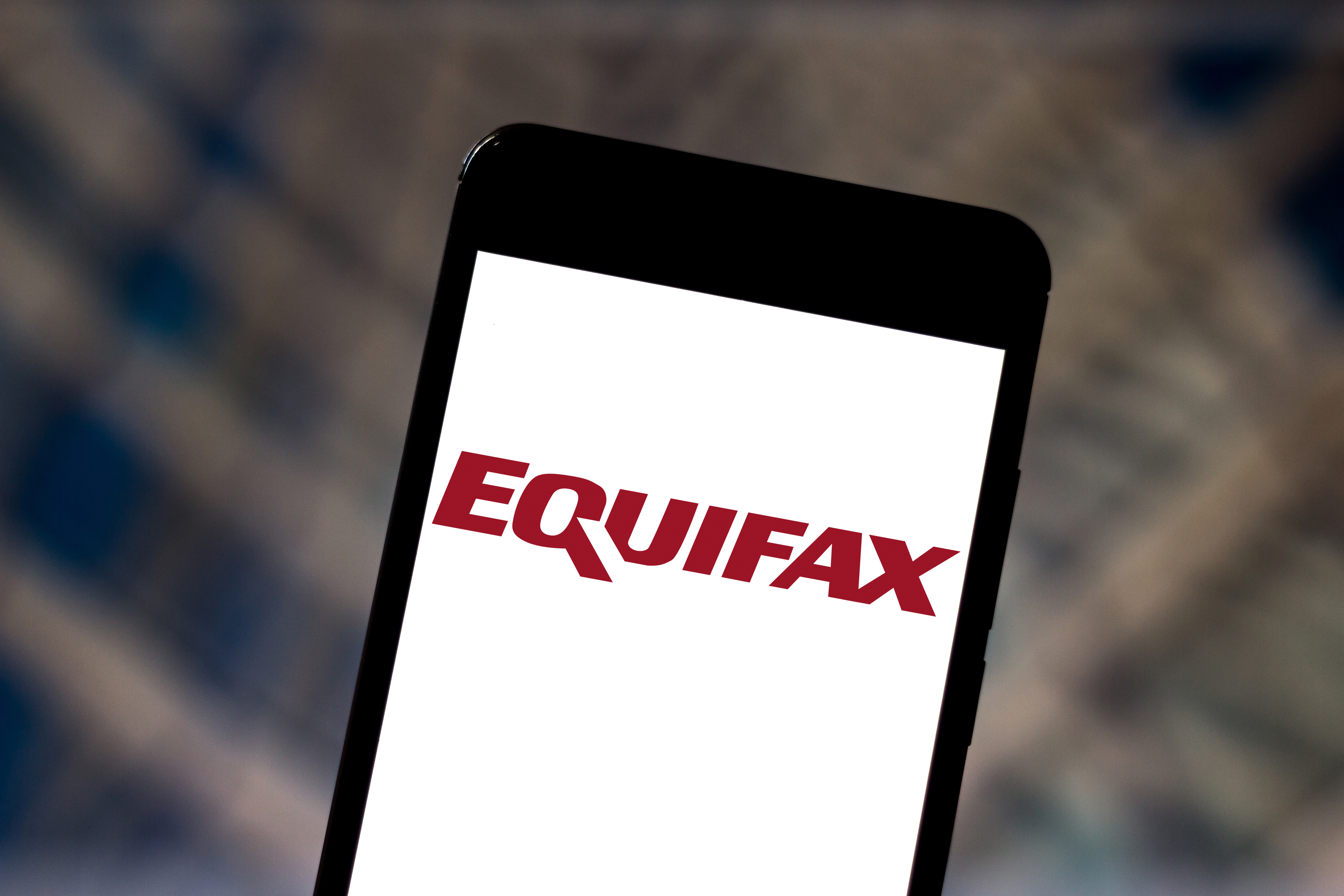 BRAZIL - 2019/05/31: In this photo illustration the Equifax logo is seen displayed on a smartphone.