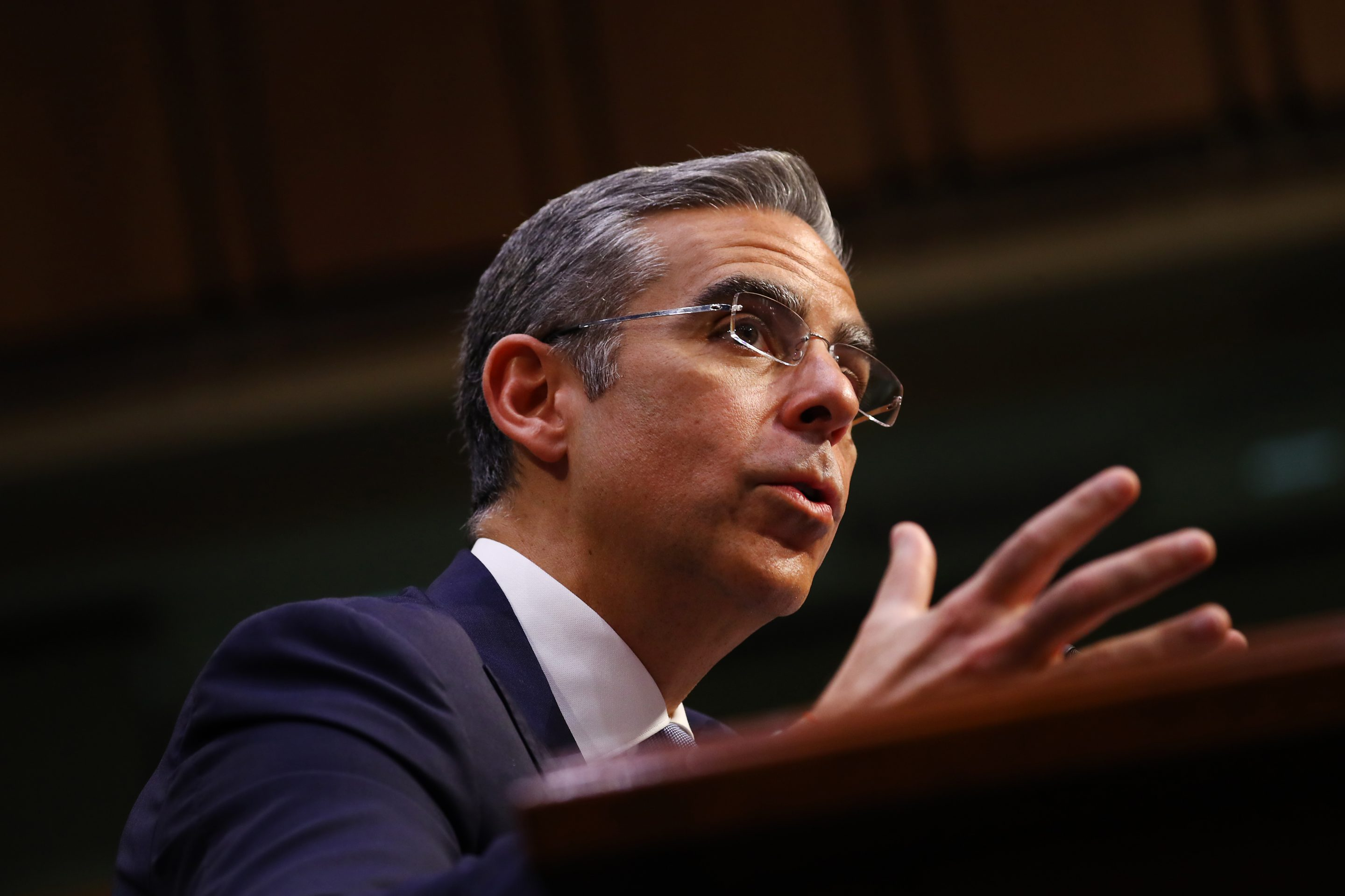 David Marcus, head of blockchain with Facebook Inc., speaks during a Senate Banking Committee hearing in Washington, D.C., U.S., on Tuesday, July 16, 2019. Facebook won't launch Libra, the controversial cryptocurrency it's planning to build with dozens of partner firms, until regulators' concerns are fully addressed, according to Marcus. Photographer: Andrew Harrer/Bloomberg via Getty Images