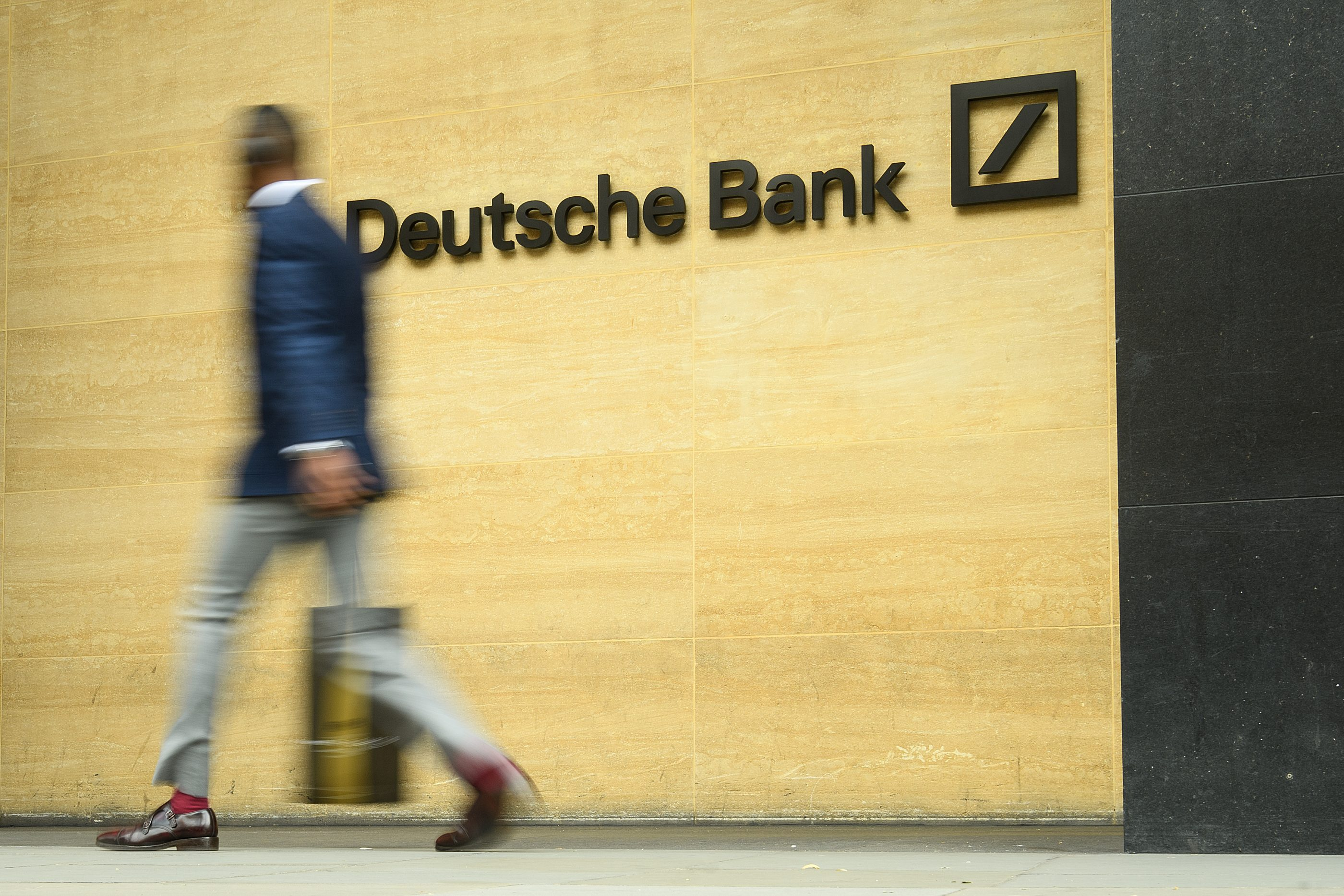 Deutsche Bank's London office on July 9, 2019.