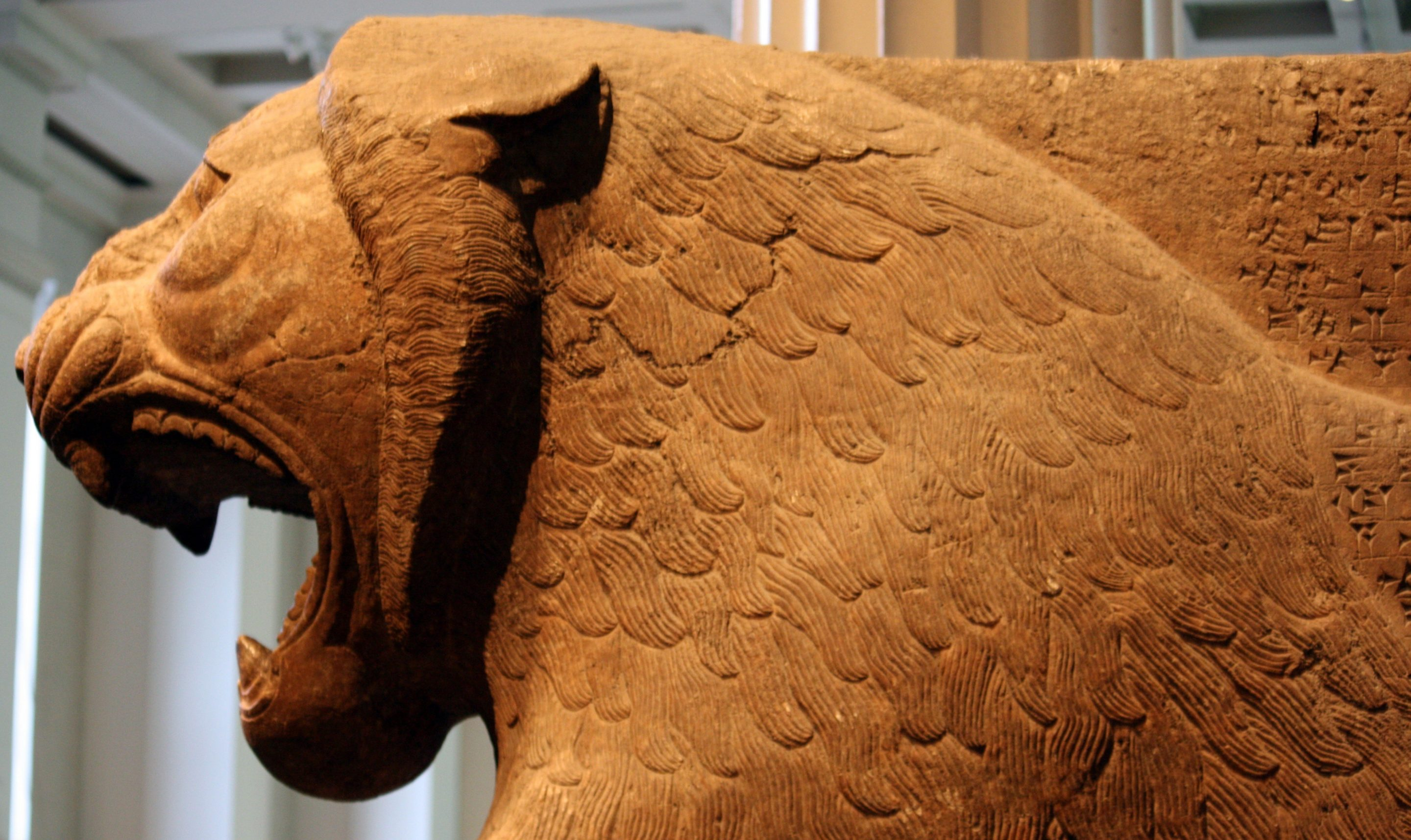 Statue of lion from Temple of Ishtar, 9th century BC