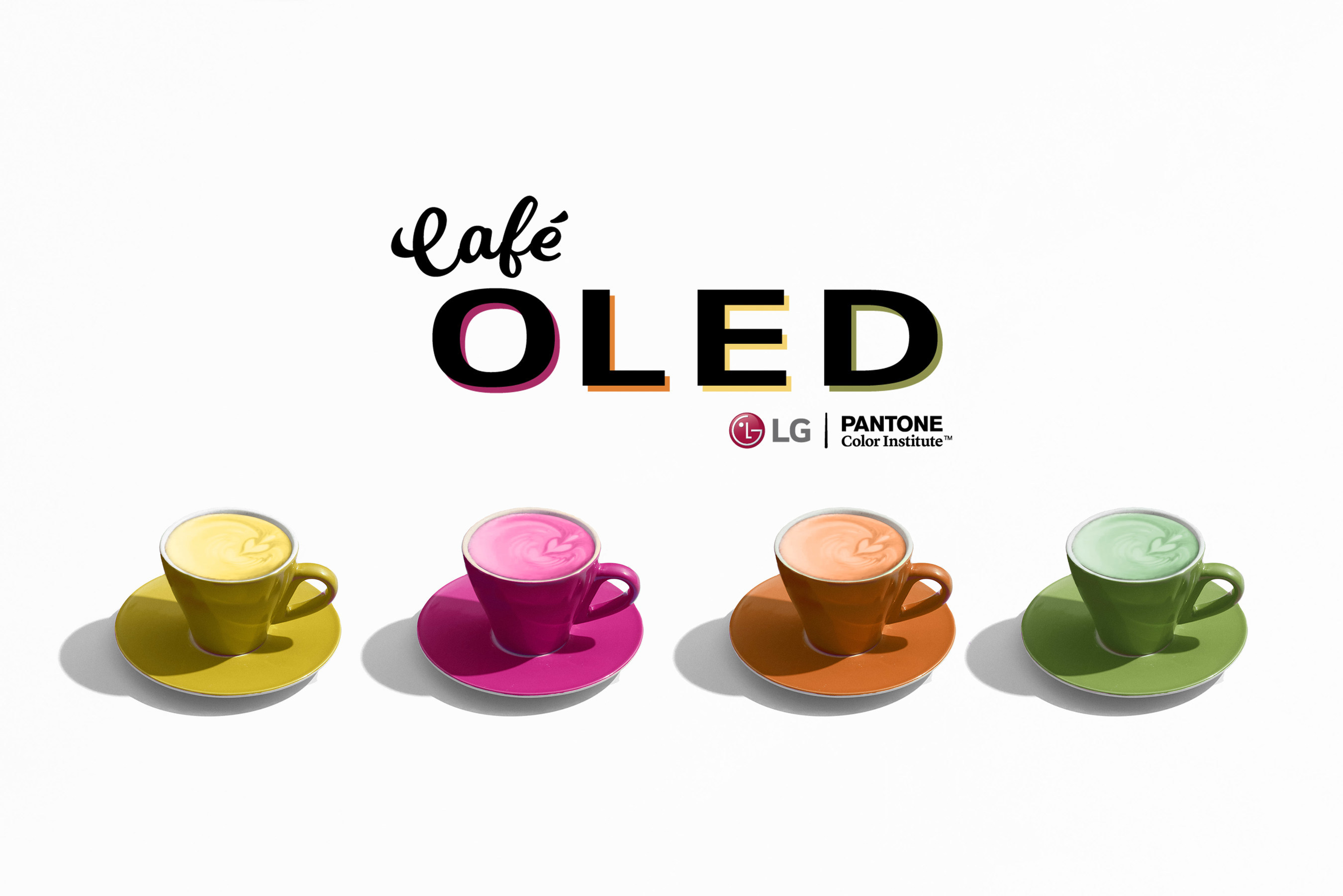 Pantone and LG's pop-up Café OLED's run in New York's SoHo is July 12-14.