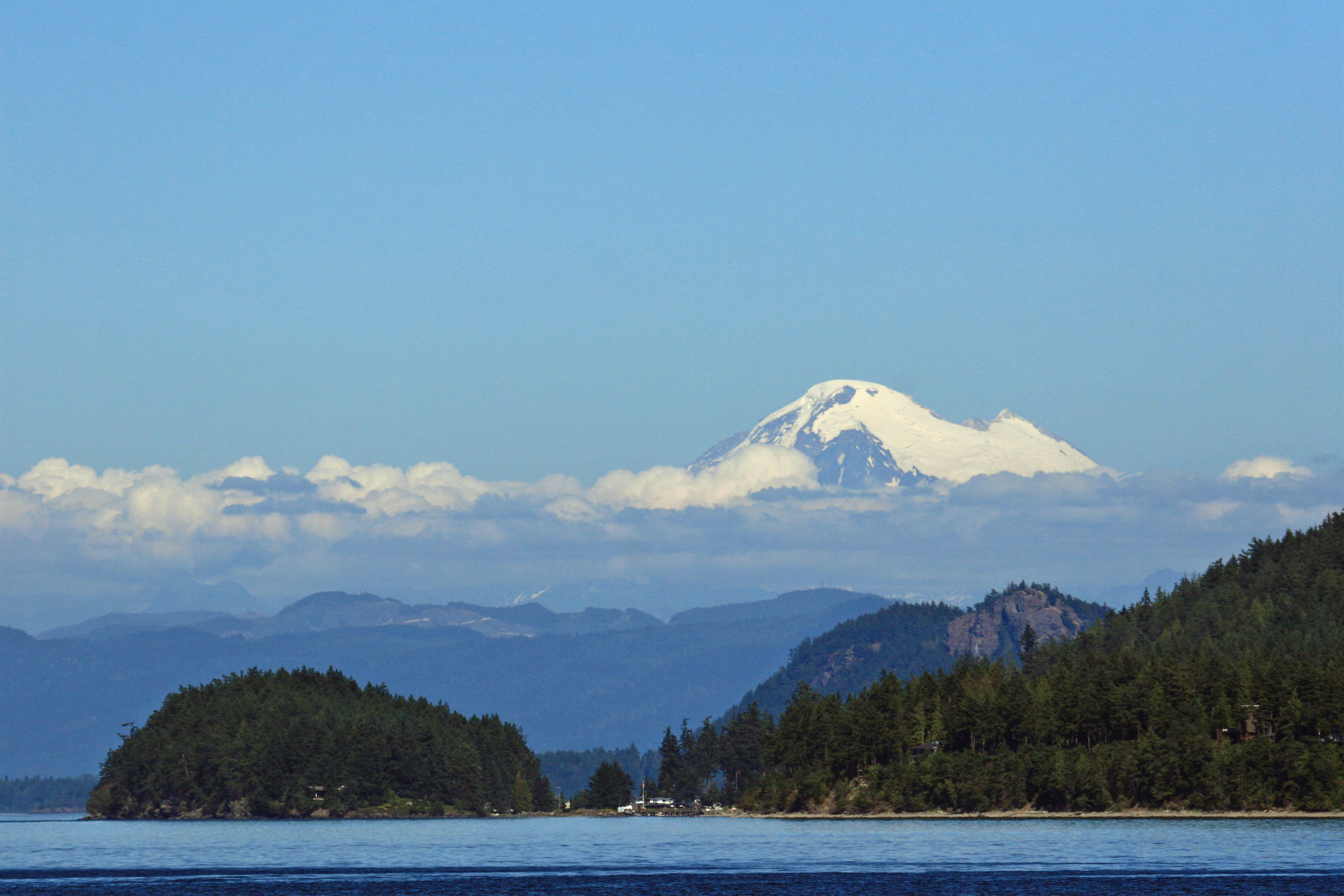 Mount Baker, seen from Orcas Island.
