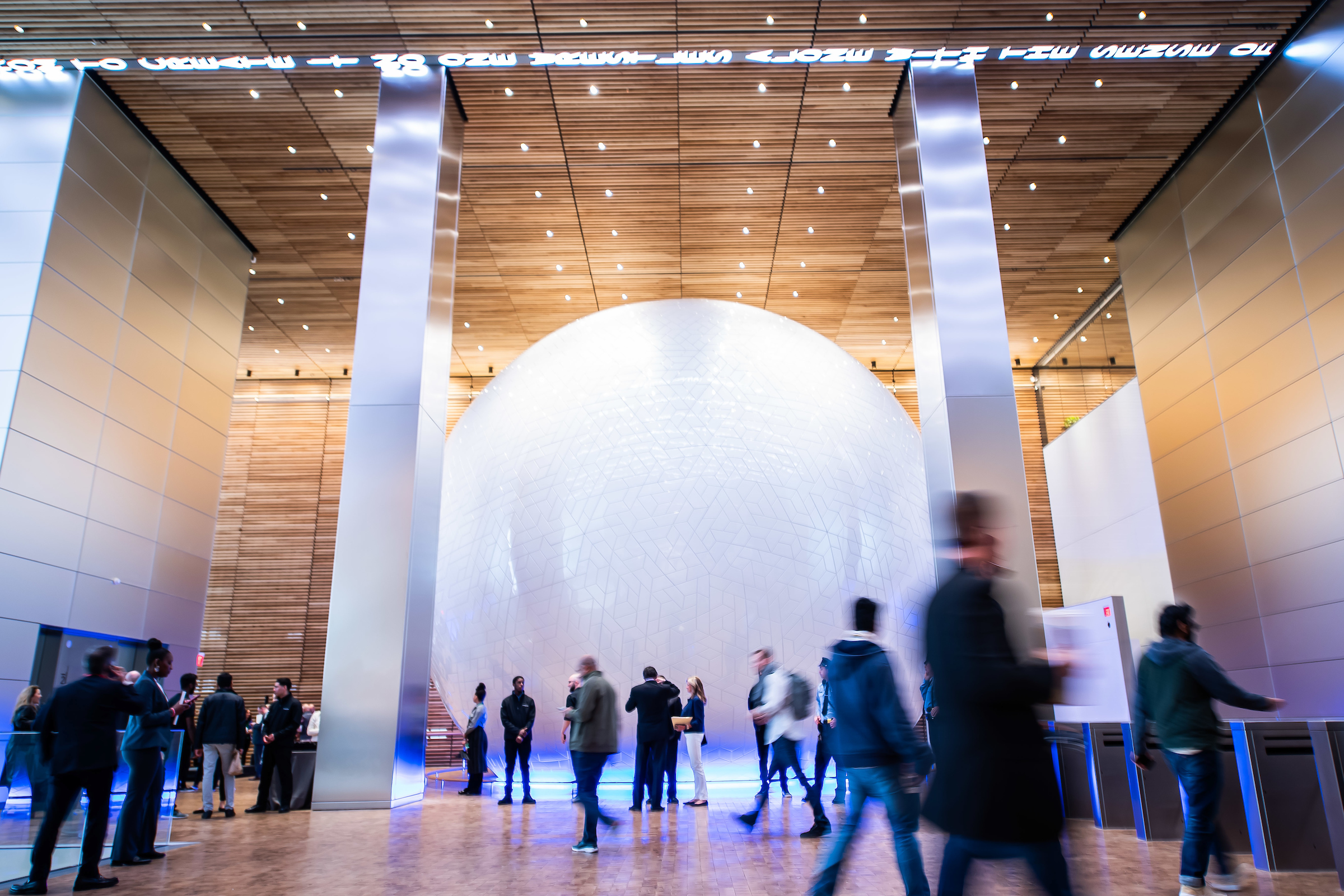 Comcast unveils the Universal Sphere inside Comcast Technology Center on Wednesday, April 17, 2019, in Philadelphia.