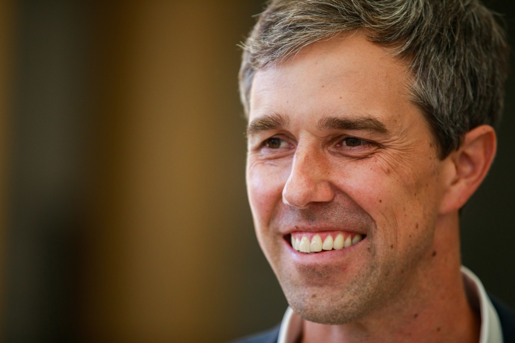 Democratic presidential hopeful Beto O'Rourke speaks to