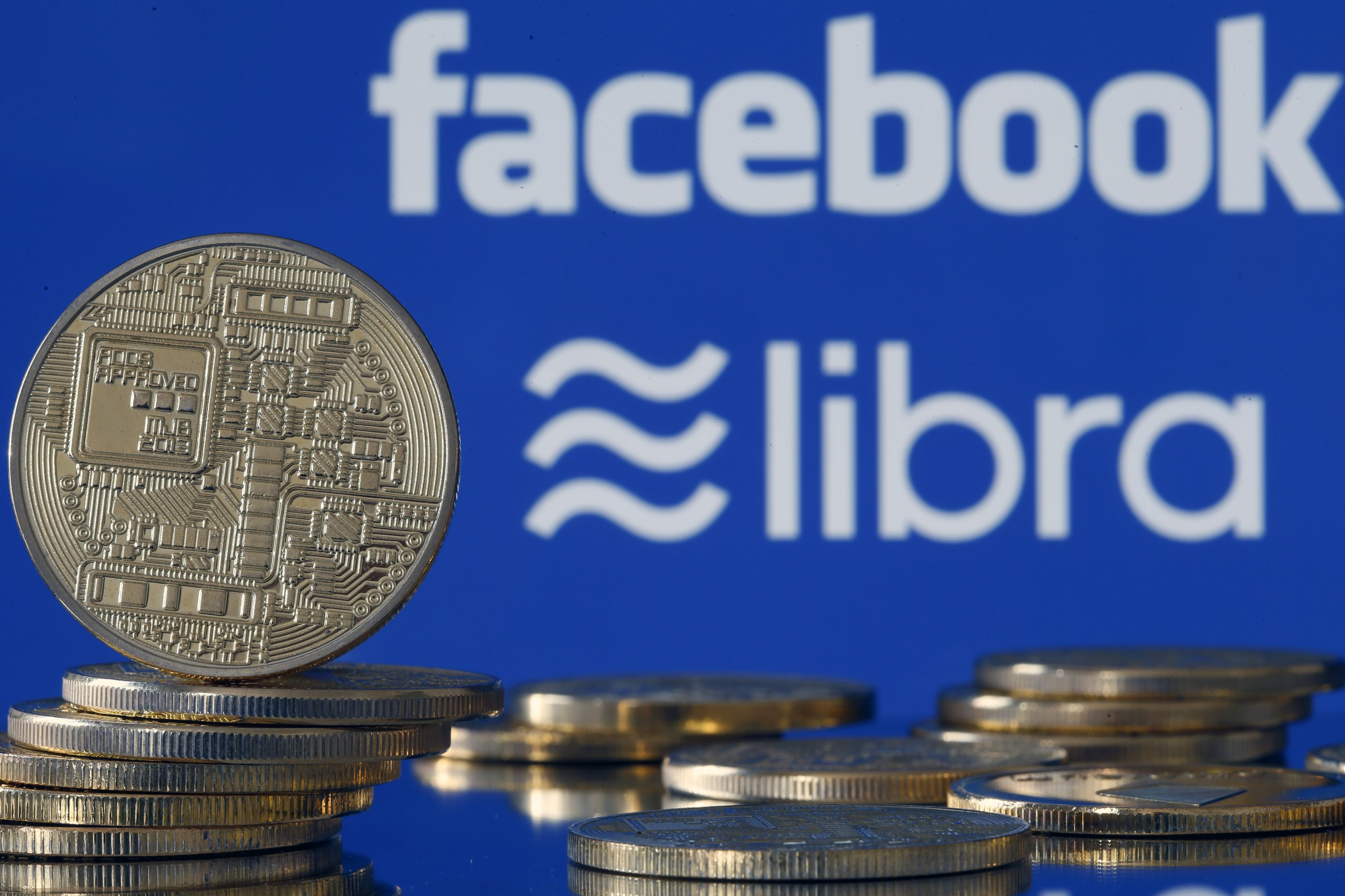 A visual representation of Facebook's Libra digital cryptocurrency.