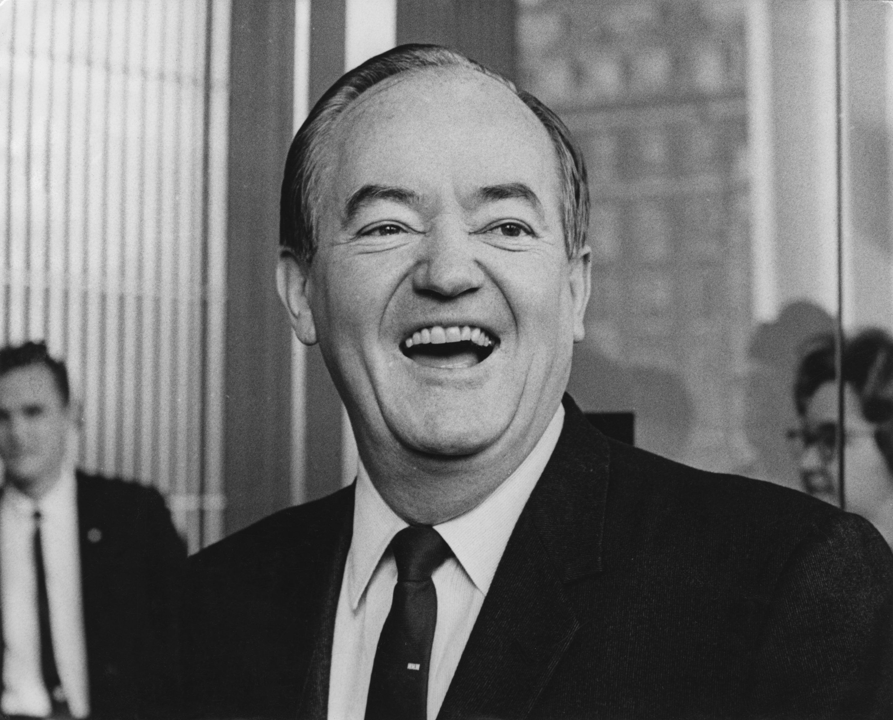 Hubert Humphrey smiling