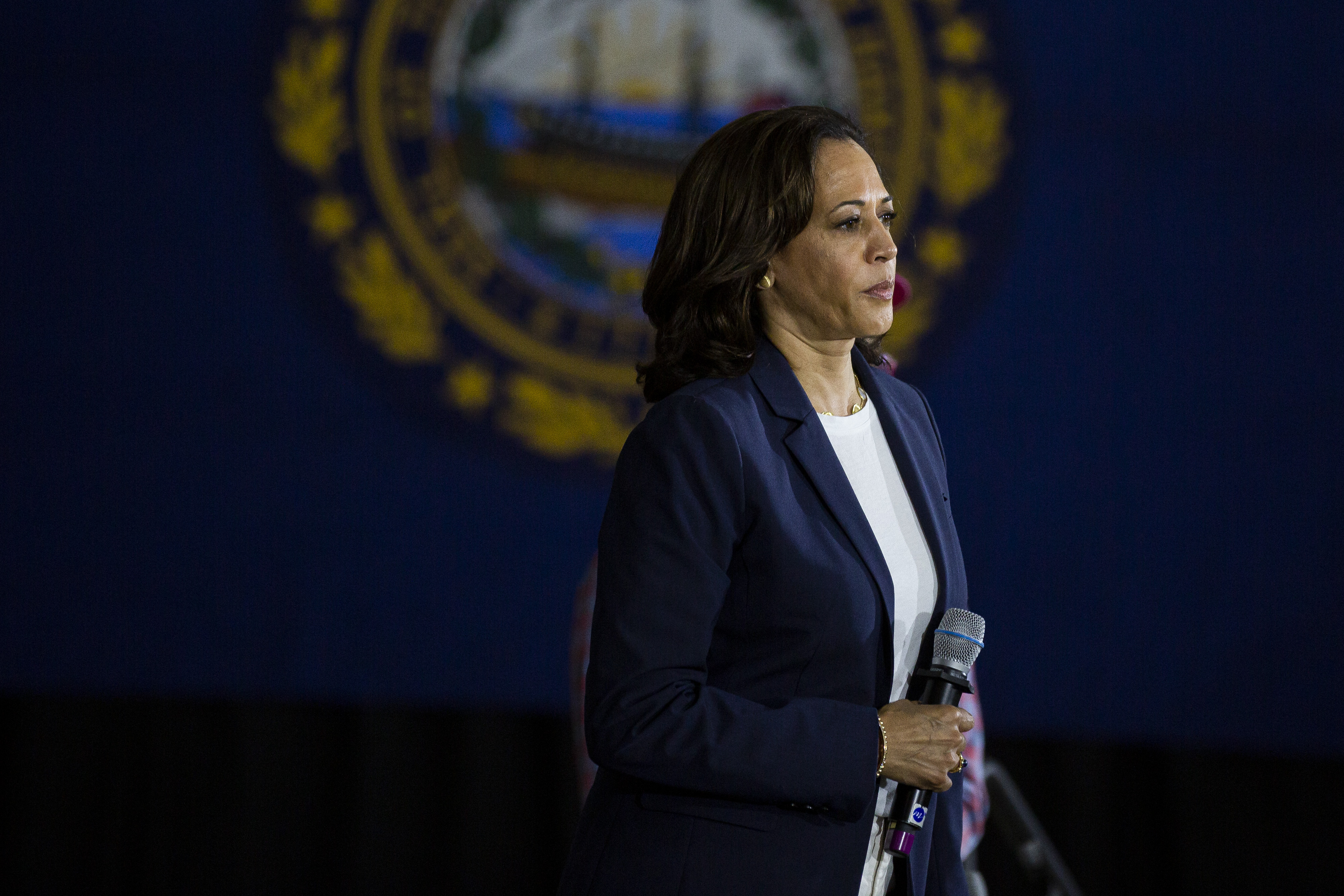 Senator Kamala Harris Holds Town Hall In New Hampshire