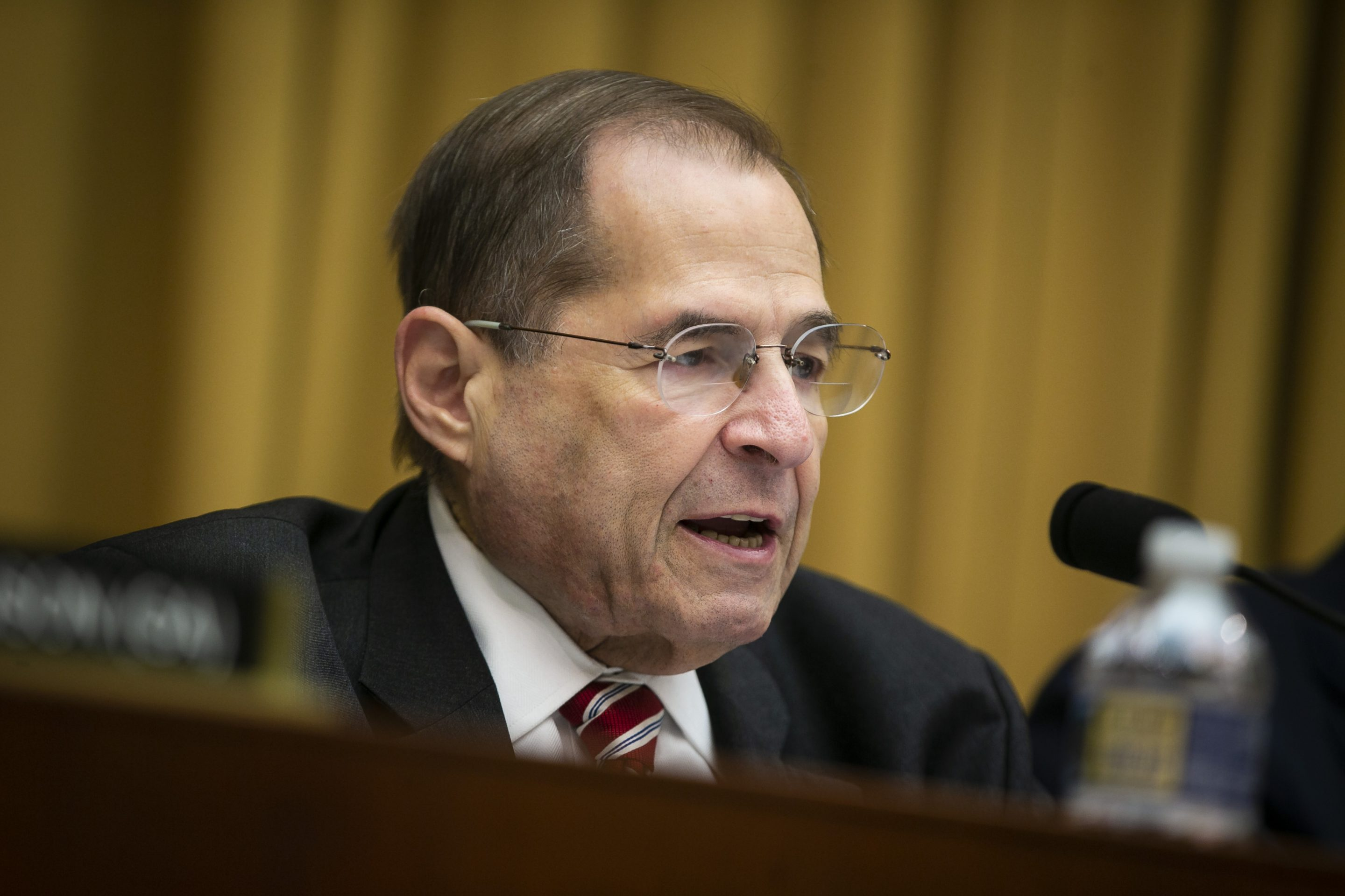 Representative Jerry Nadler, chairman of the House Judiciary Committee, speaks during a subcommittee hearing on antitrust on Tuesday, June 11, 2019. The subcommittee continued its investigation today, but absent is the legal standard of consumer harm as the trigger for government intervention.