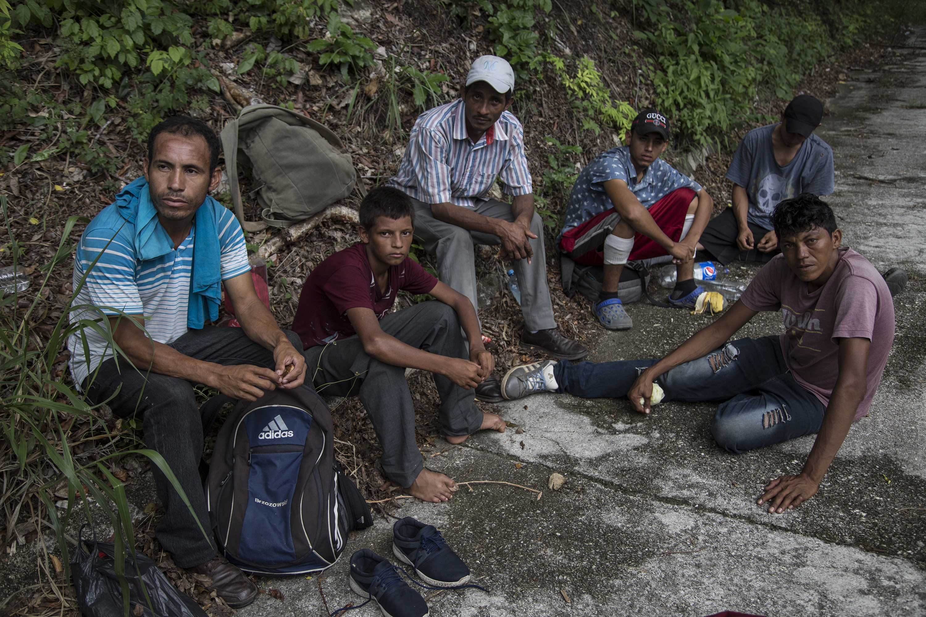 Central American Migrants Cross The Mexican Southern Border On Their Way To The US