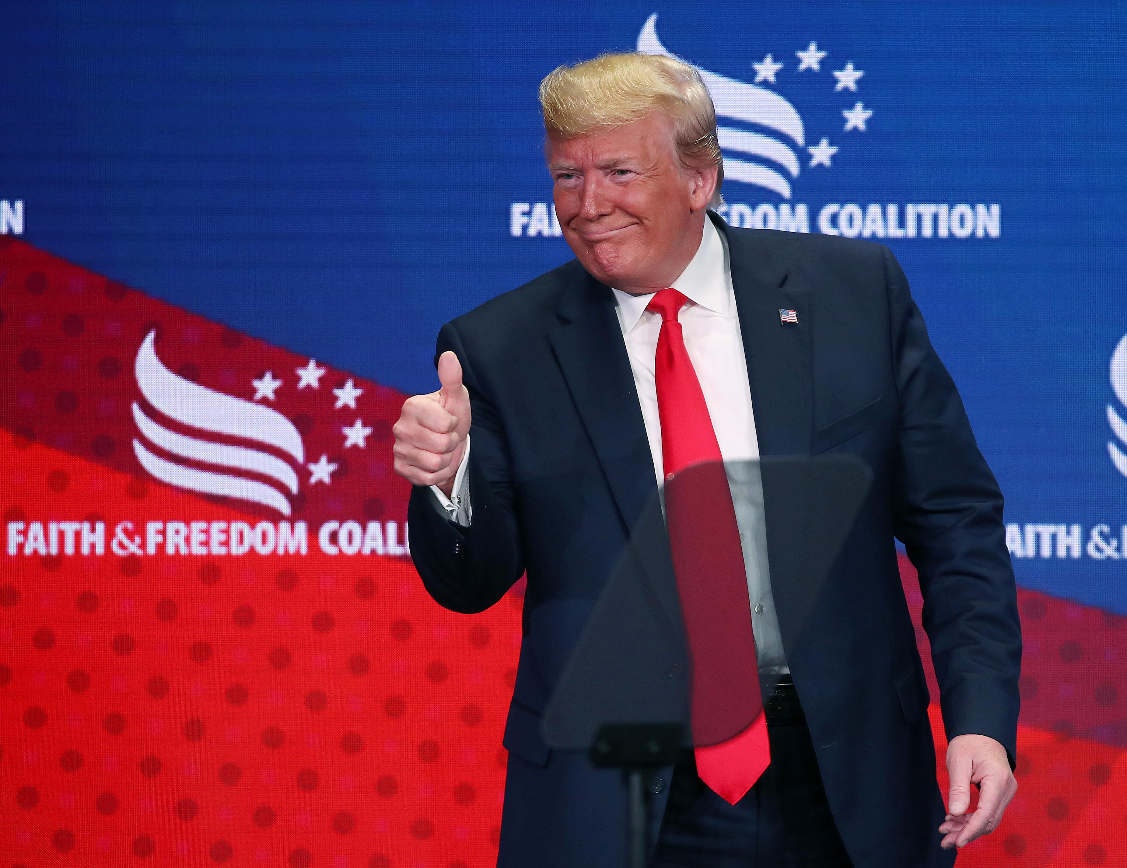 President Trump Addresses Faith & Freedom Coalition Conference In Washington