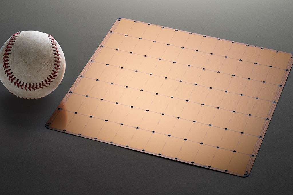 Cerebras Systems's Wafer-Scale Engine chip is roughly the size of a large mousepad. Its inventors say its hugeness will enable it to run A.I.-related calculations more quickly.