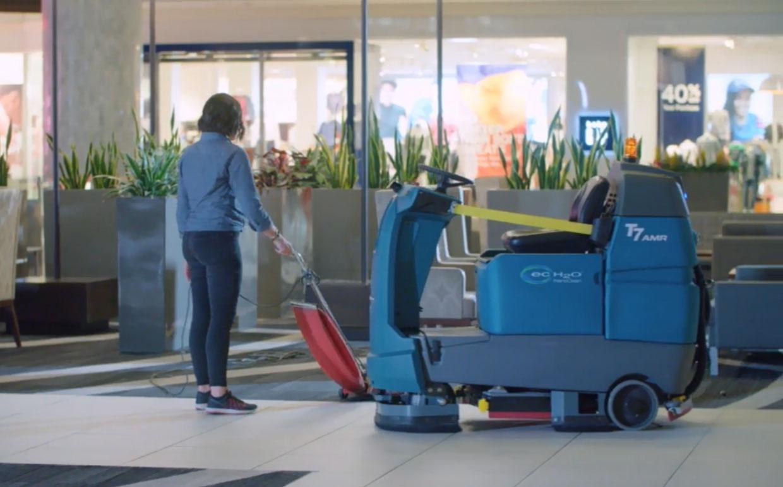robot floor cleeaning machine