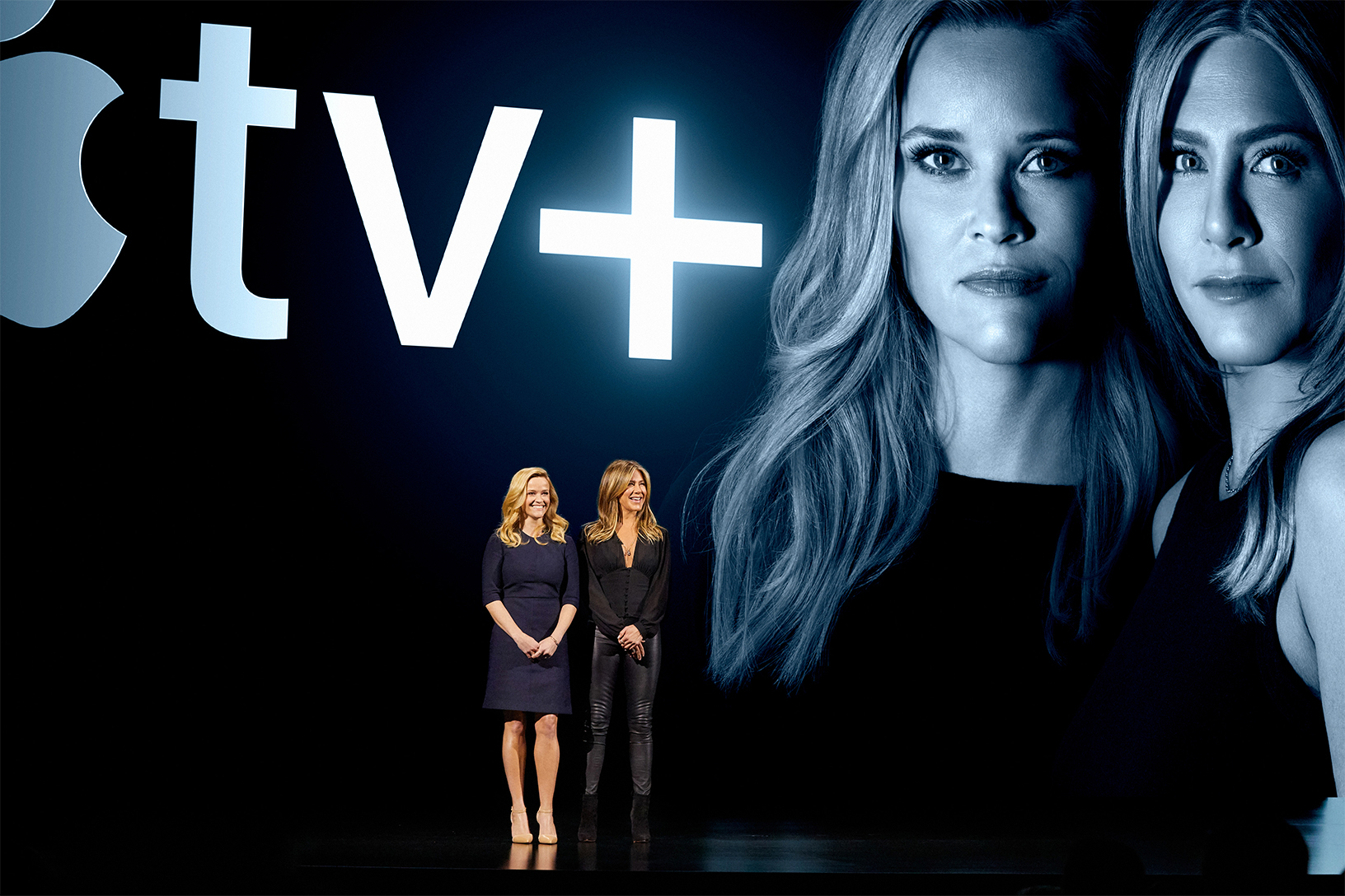 "Reese Witherspoon and Jennifer Aniston tease their Apple TV Plus show ""The Morning Show"" at Apple's keynote event in March 2019 in Cupertino, Calif. It's not clear how much Apple TV Plus will cost per month, and Disney Plus's launch details aren't making pricing any easier to figure out."
