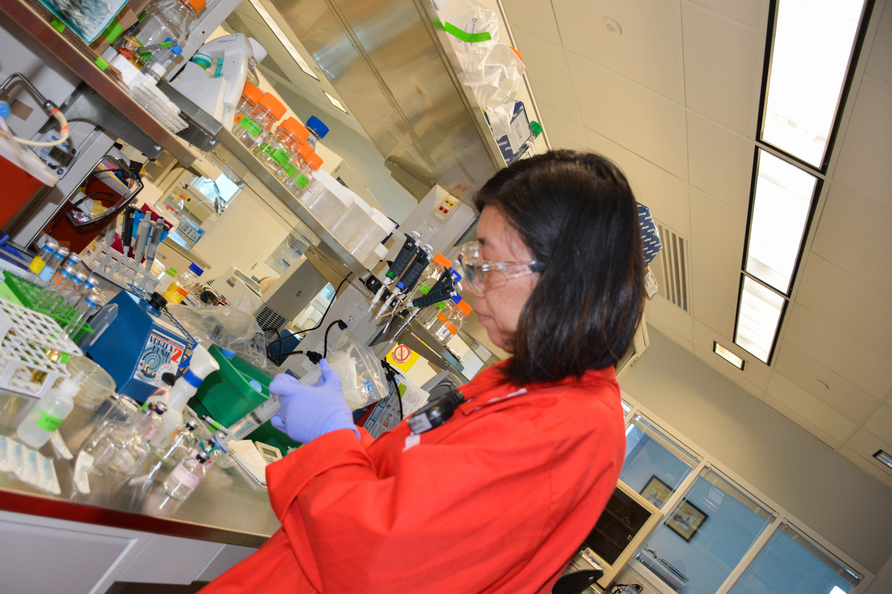 Ching Leang, a molecular biologist at LanzaTech. LanzaTech has been a participant in the Unreasonable Impact accelerator program.