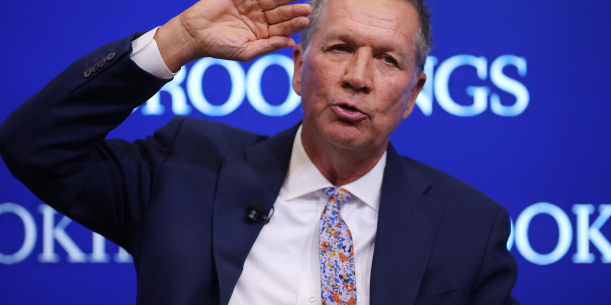 Kasich Says He Doesn't See Path to Beat Trump–and Other 2020 Updates