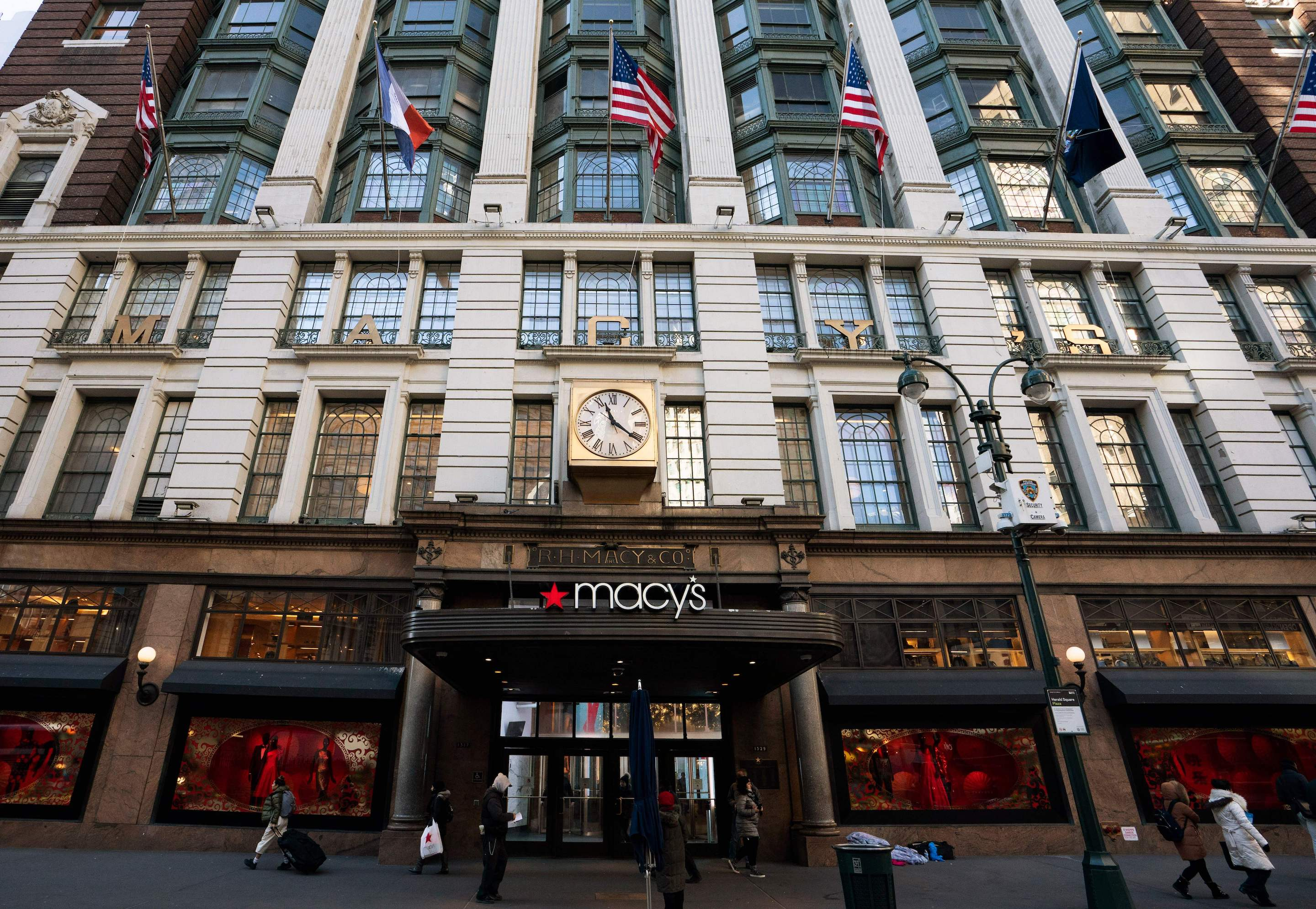 Macy's eked out a 0.3% comparable store gain for the second quarter.