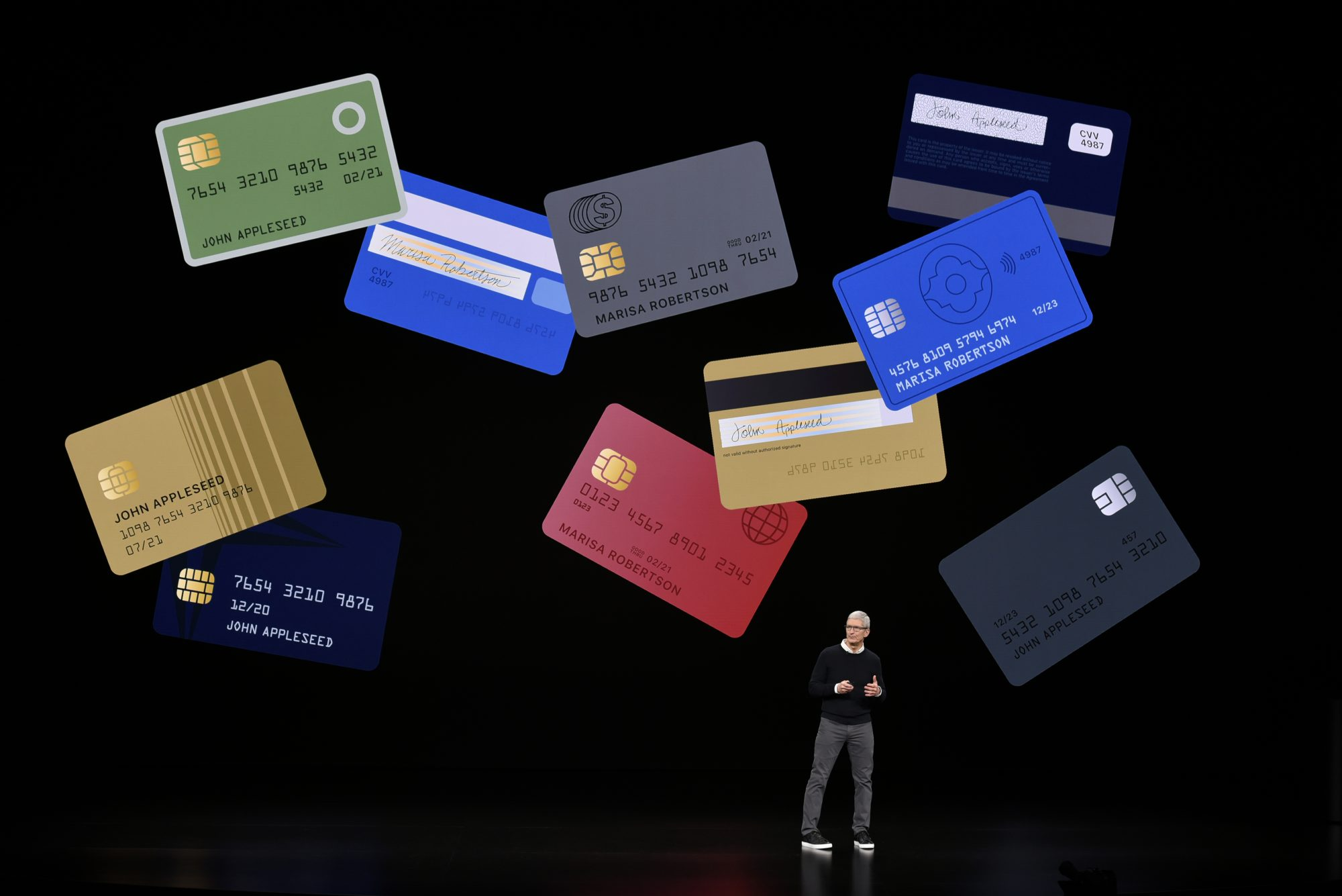 tim cook introduces apple card