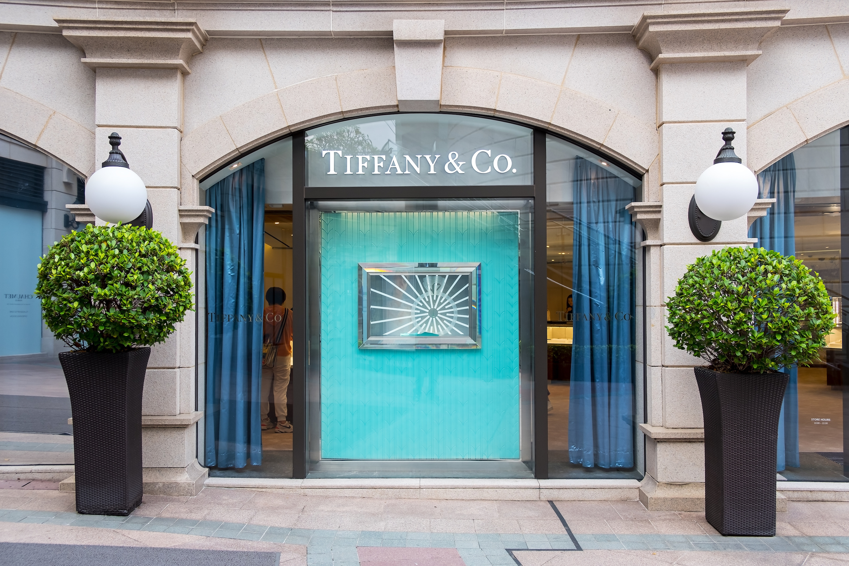 As Tiffany & Co.'s sales in China drop, the company turns to India to open stores. Pictured, Tiffany store in Tsim Sha Tsui, Hong Kong.