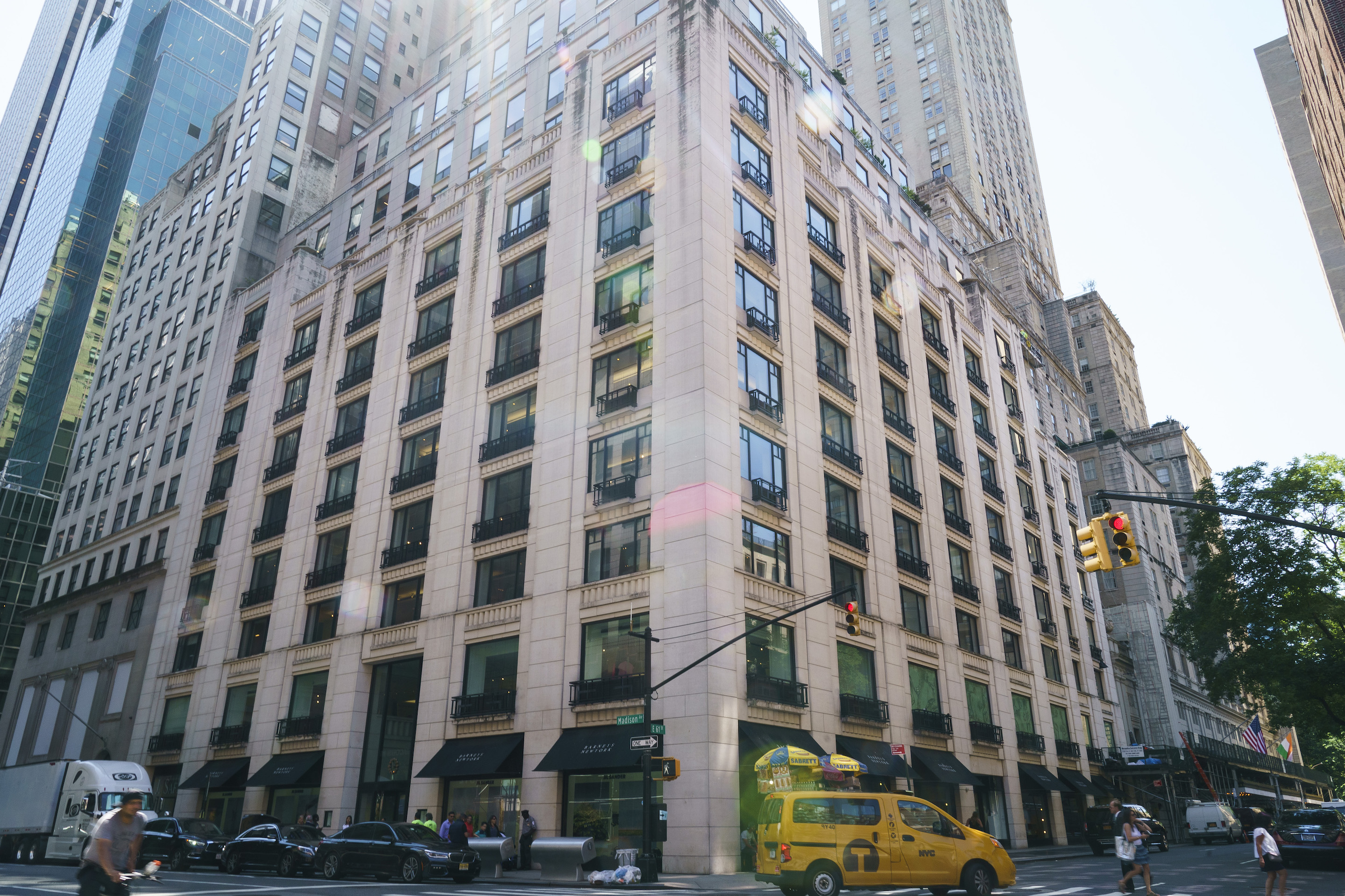 Barneys New York stands at 63rd Street and Madison Avenue in Midtown Manhattan, is slated to stay open as part of the retailer's reorganization.