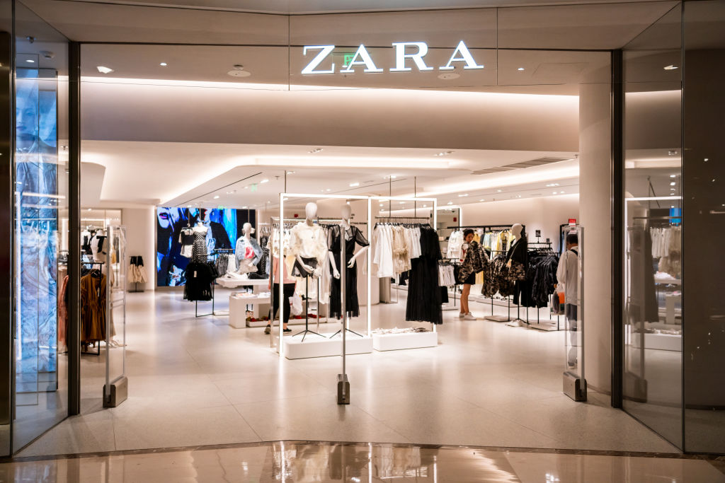 Doorway of Zara store in Shanghai
