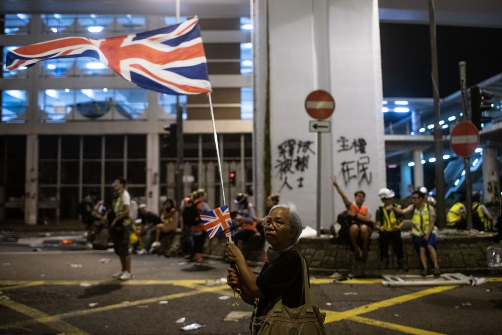 The U.K. government is reportedly concerned one of its Hong Kong consulate staffers has been detained.