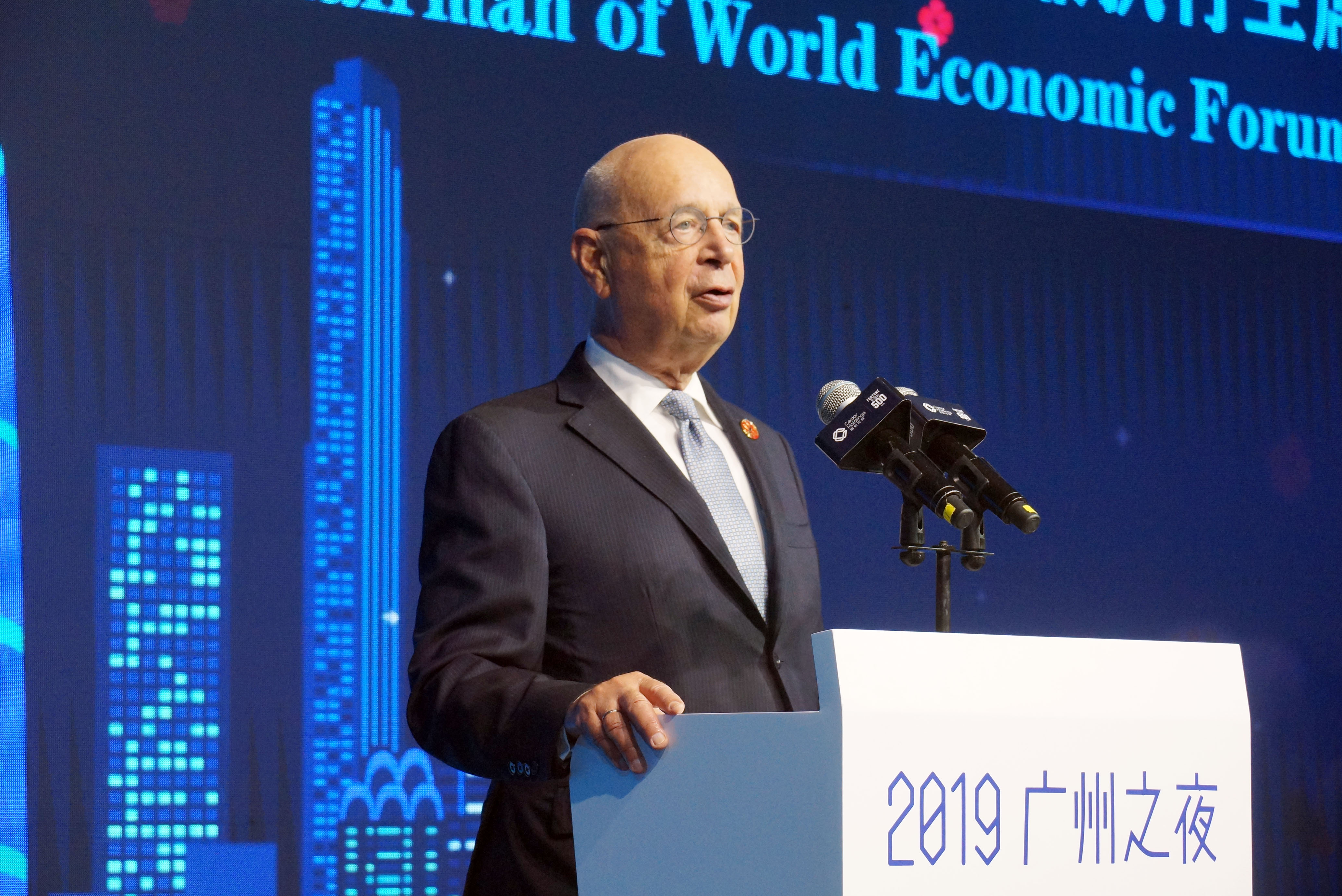 Klaus Schwab, founder of the World Economic Forum
