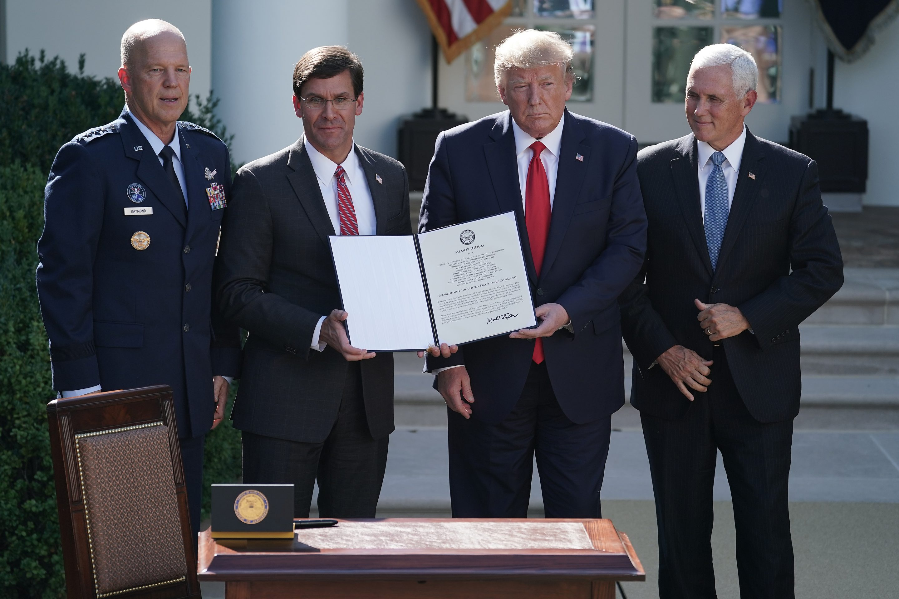 President Donald Trump Announces Establishment Of The U.S. Space Command