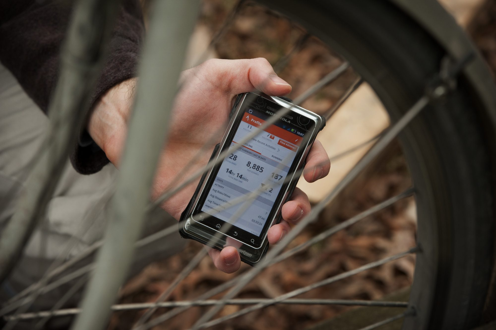 strava fitness app on a phone