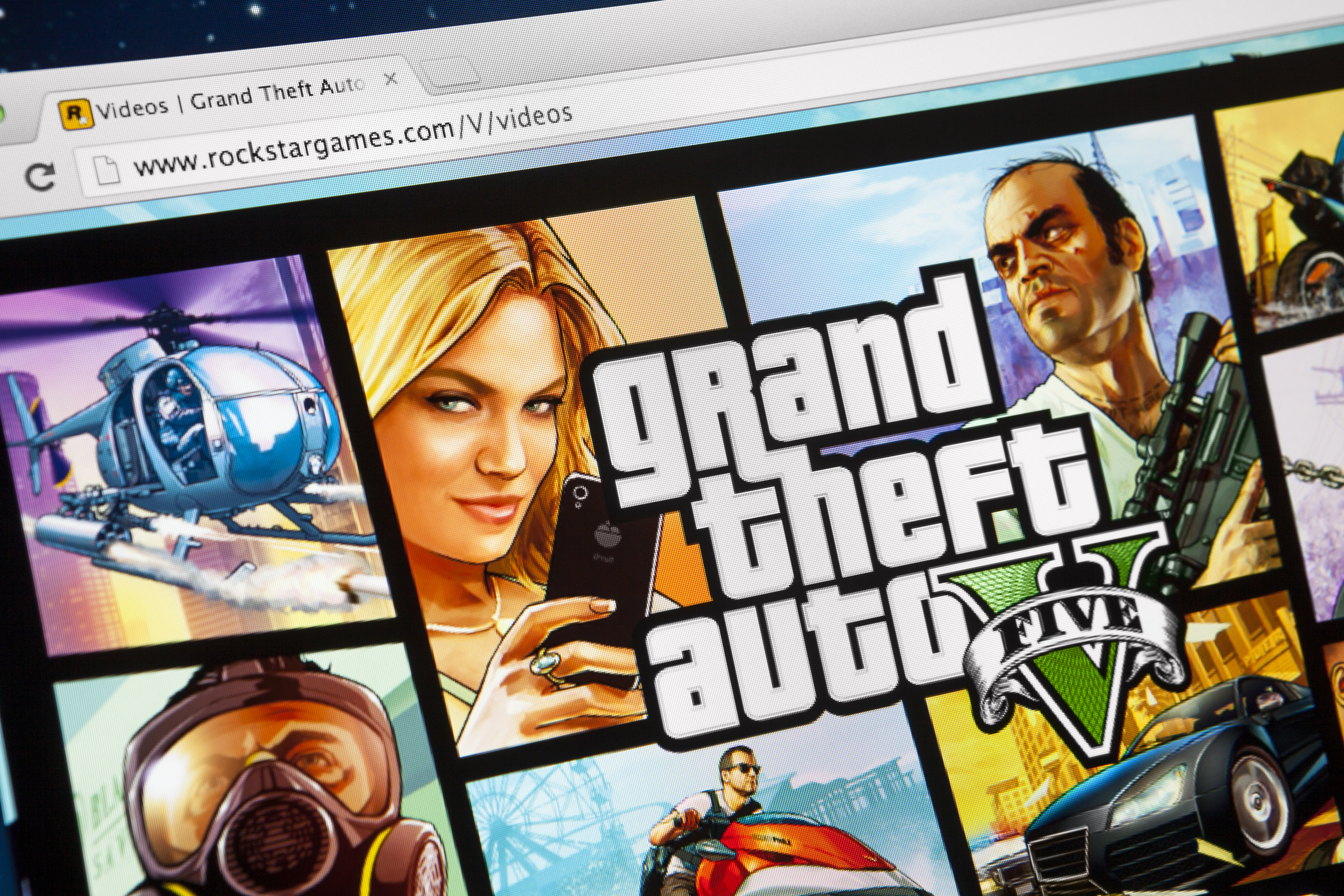 Grand Theft Auto 5 on iMac screen