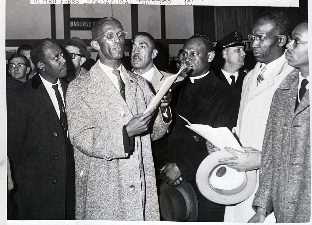 Rev. Mccollough At Airport Protest