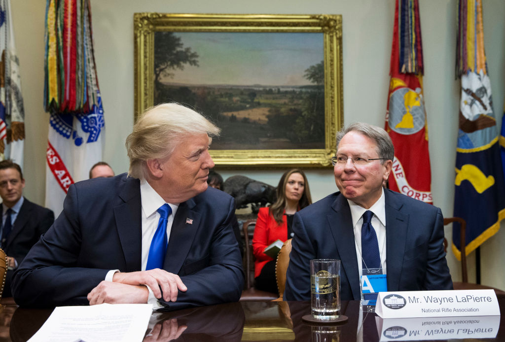 Trump and Wayne LaPierre at the White House