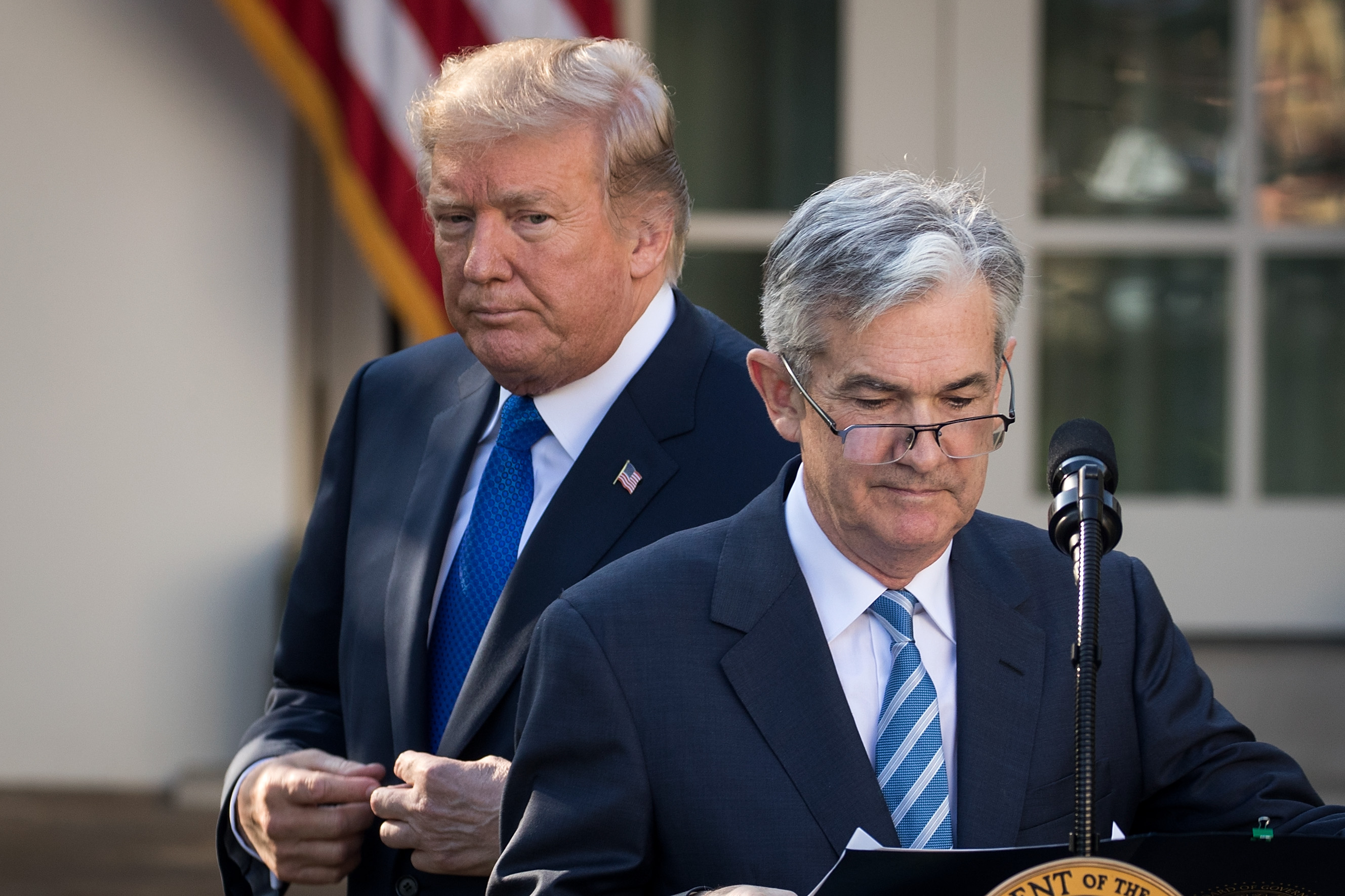 Trump pushes the Fed